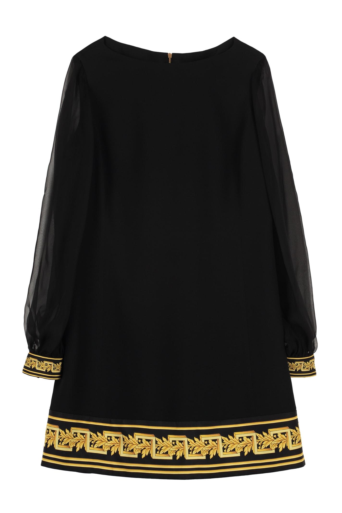 Versace Crêpe Envers Satin Dress