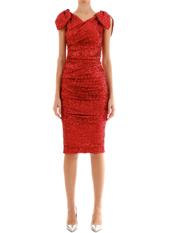 Dolce & Gabbana Sequins Midi Dress
