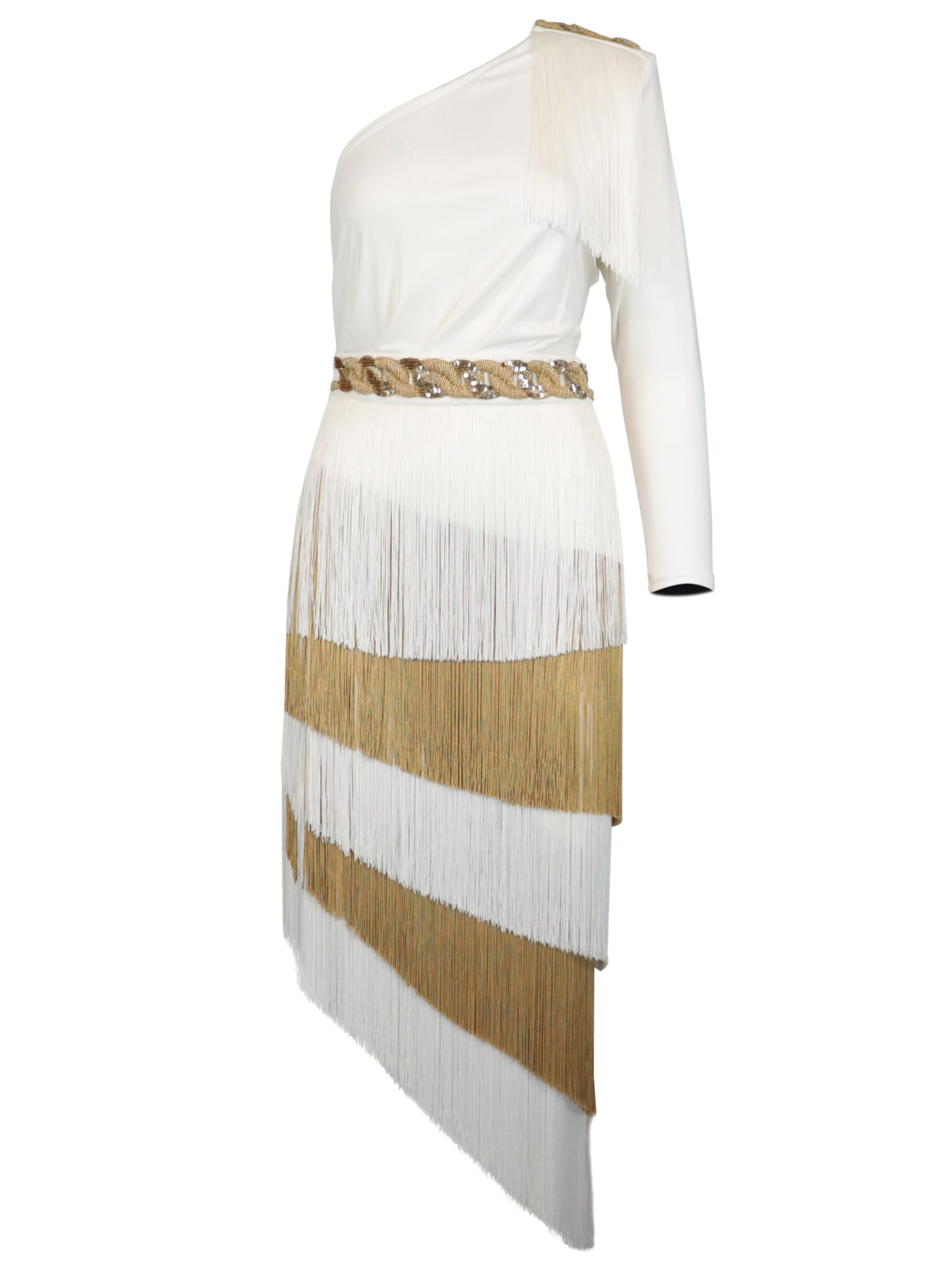 Buy Elisabetta Franchi Celyn B. Fringe Dress online, shop Elisabetta Franchi Celyn B. with free shipping