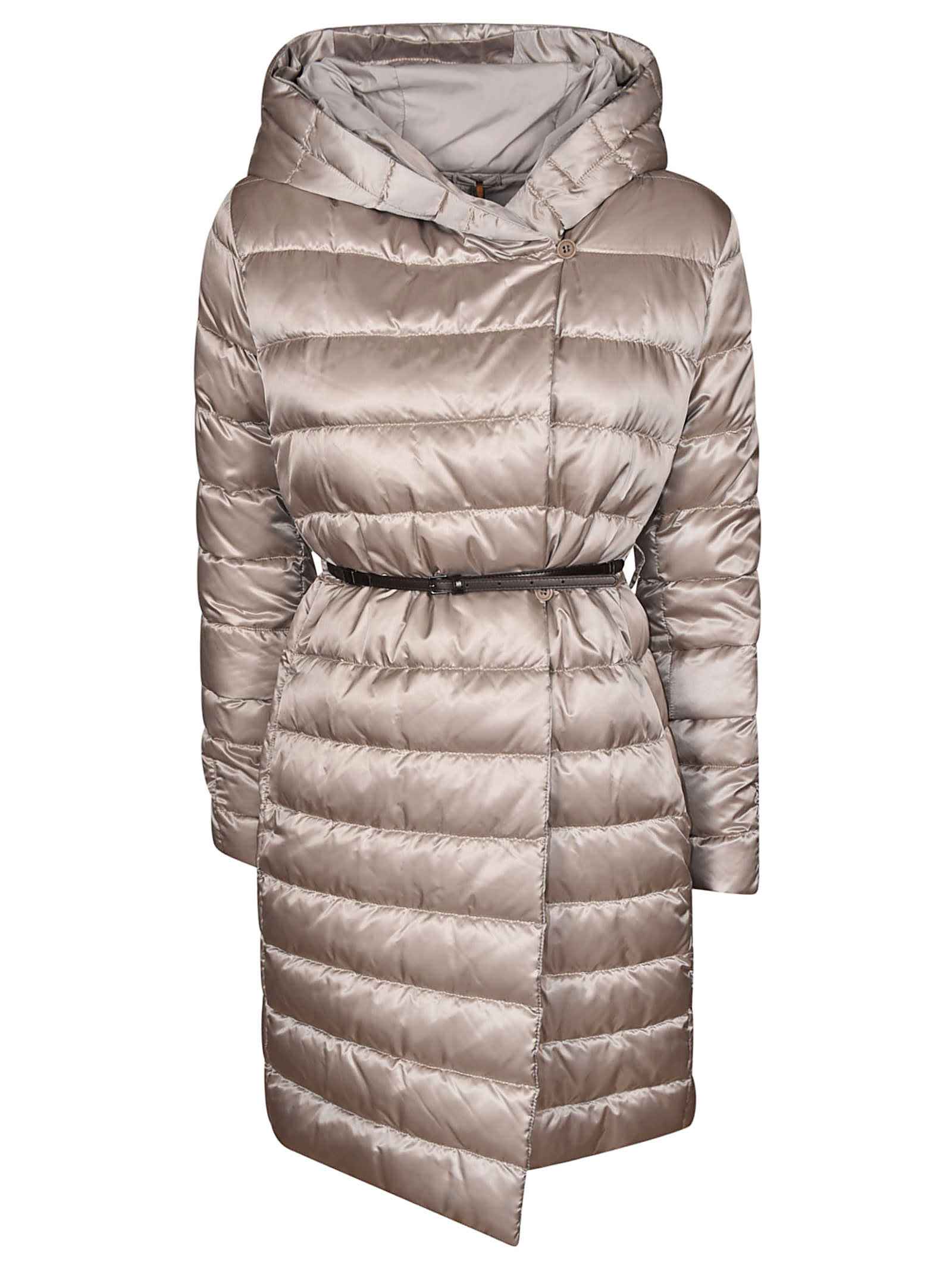 Max Mara Padded Hooded One-sided Coat