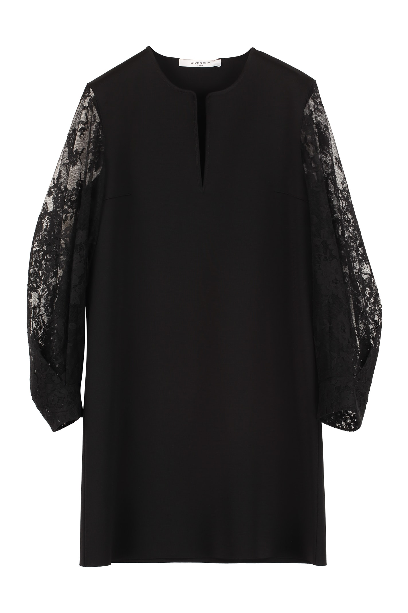 Buy Givenchy Lace Sleeves Dress online, shop Givenchy with free shipping
