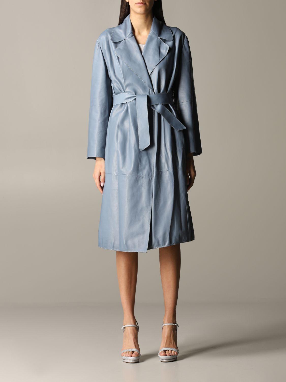 Buy Giorgio Armani Coat Giorgio Armani Coat In Dressing Gown Nappa Leather online, shop Giorgio Armani with free shipping