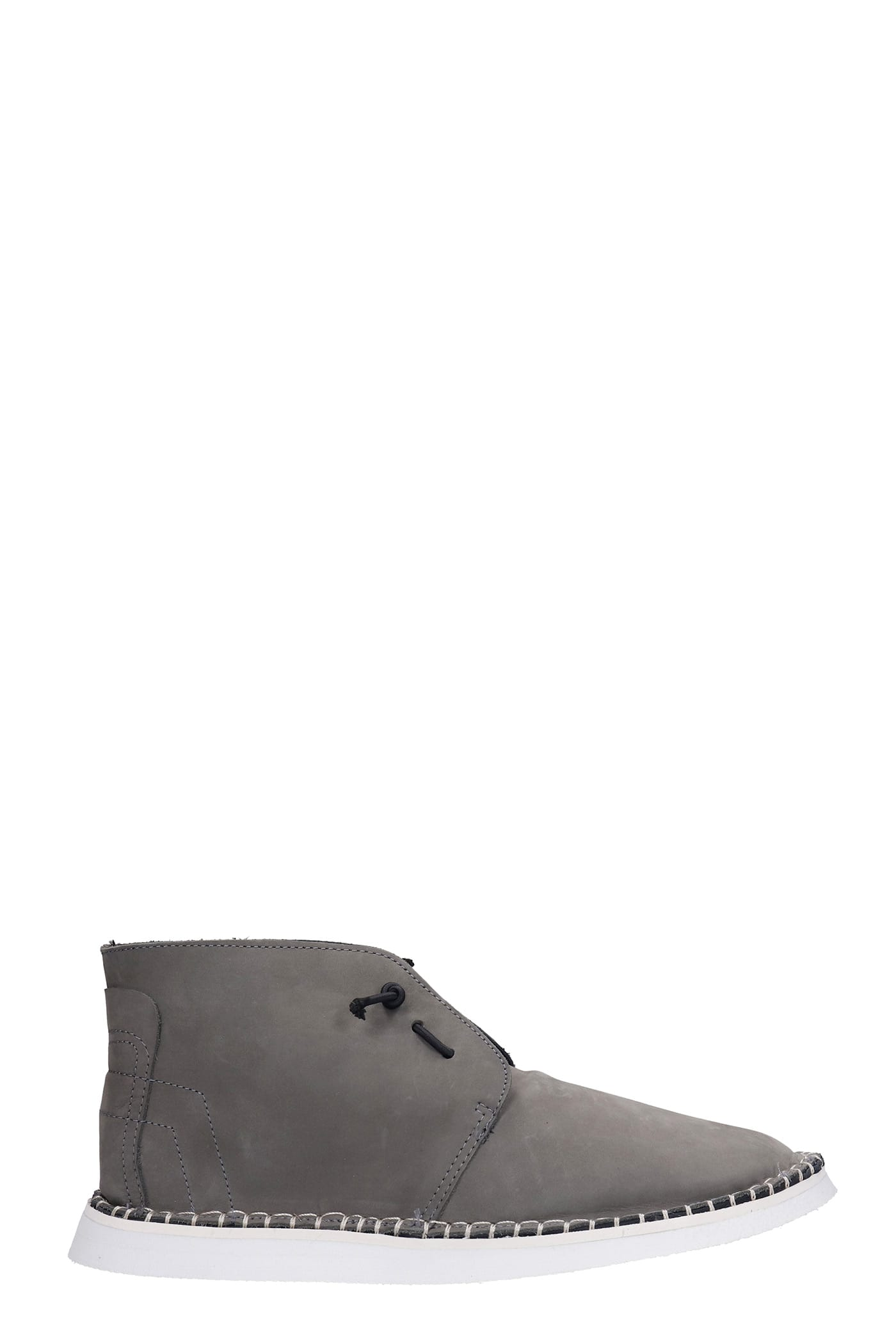 Flavor Lace Up Shoes In Grey Nubuck