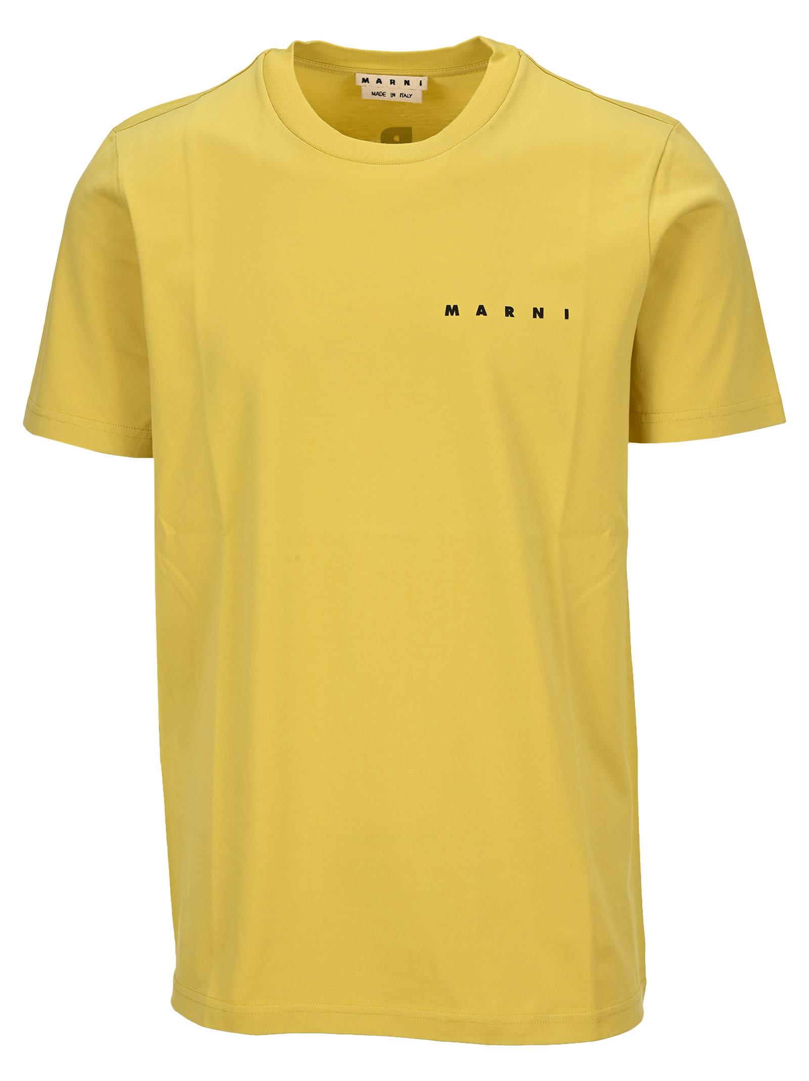 Marni Daisy T-shirt In Yellow