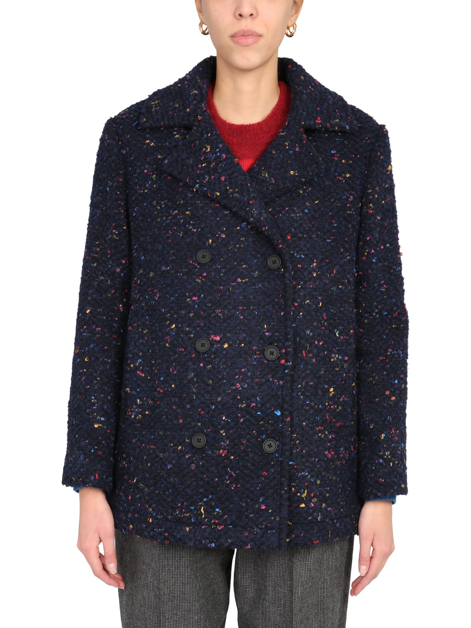 Ps By Paul Smith Linings DOUBLE-BREASTED COAT