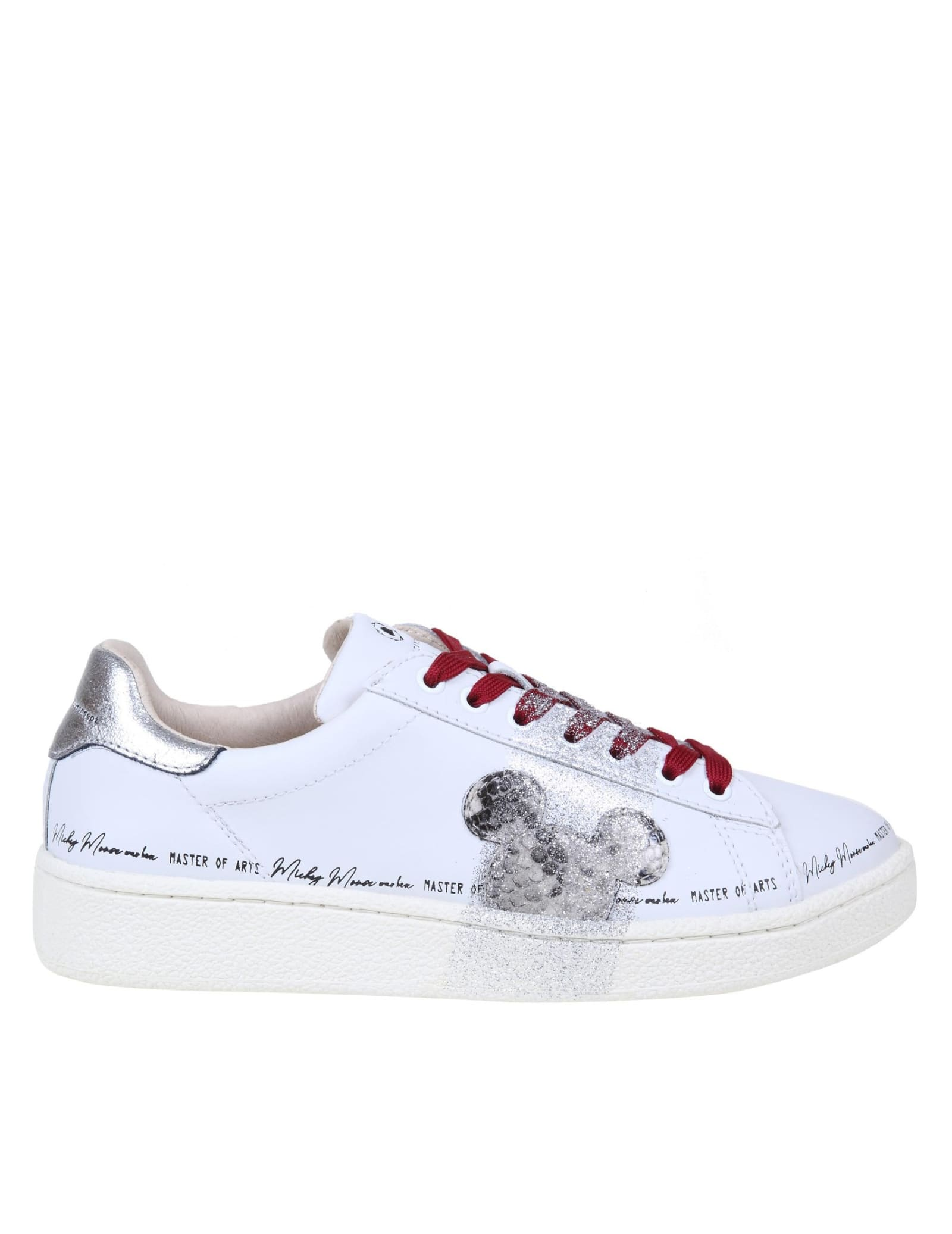 Moa Master Of Arts MOA SNEAKERS IN LEATHER WITH GLITTER DETAIL