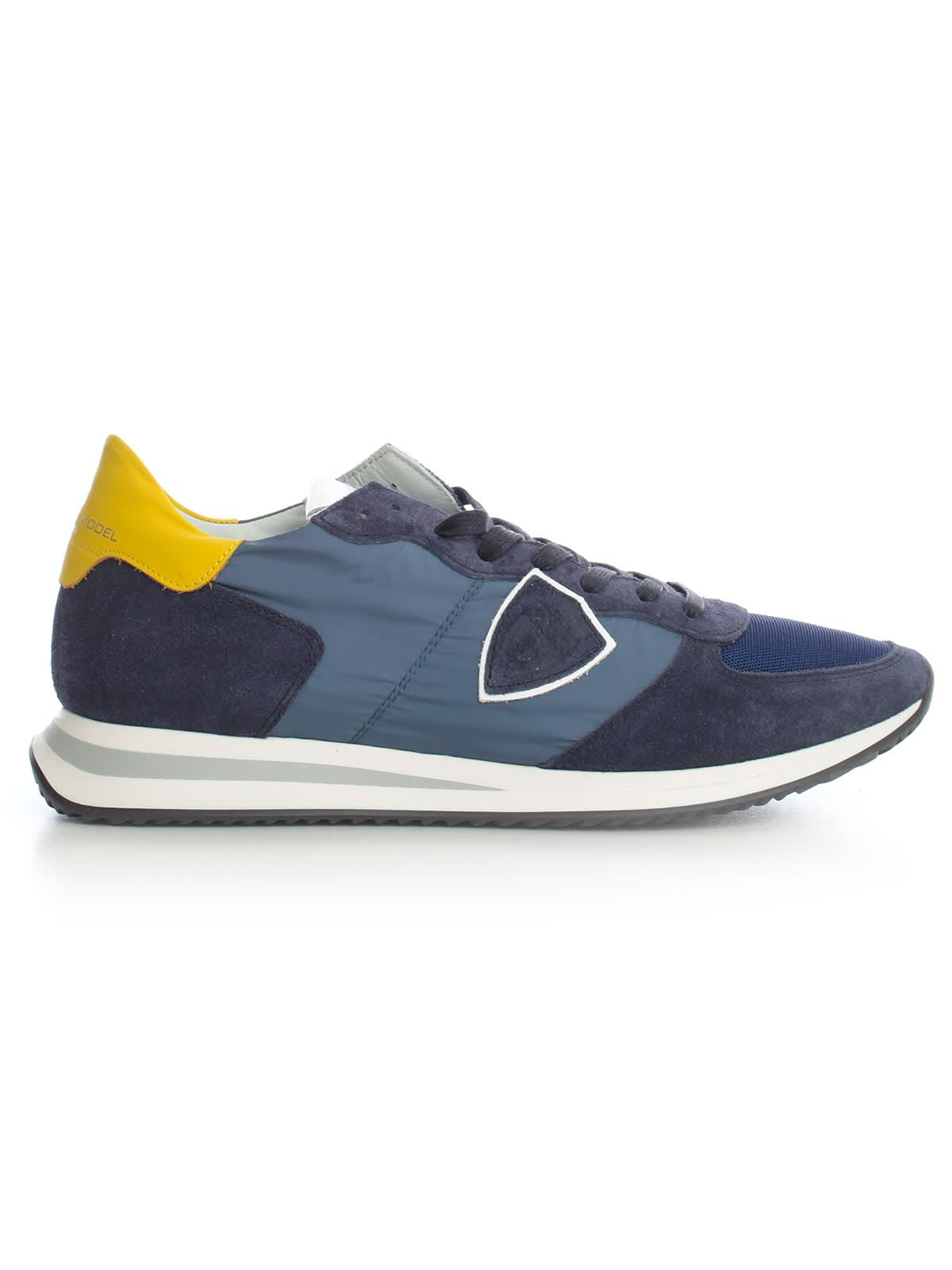 Philippe Model Trpx Sneakers Blue W/yellow Heel