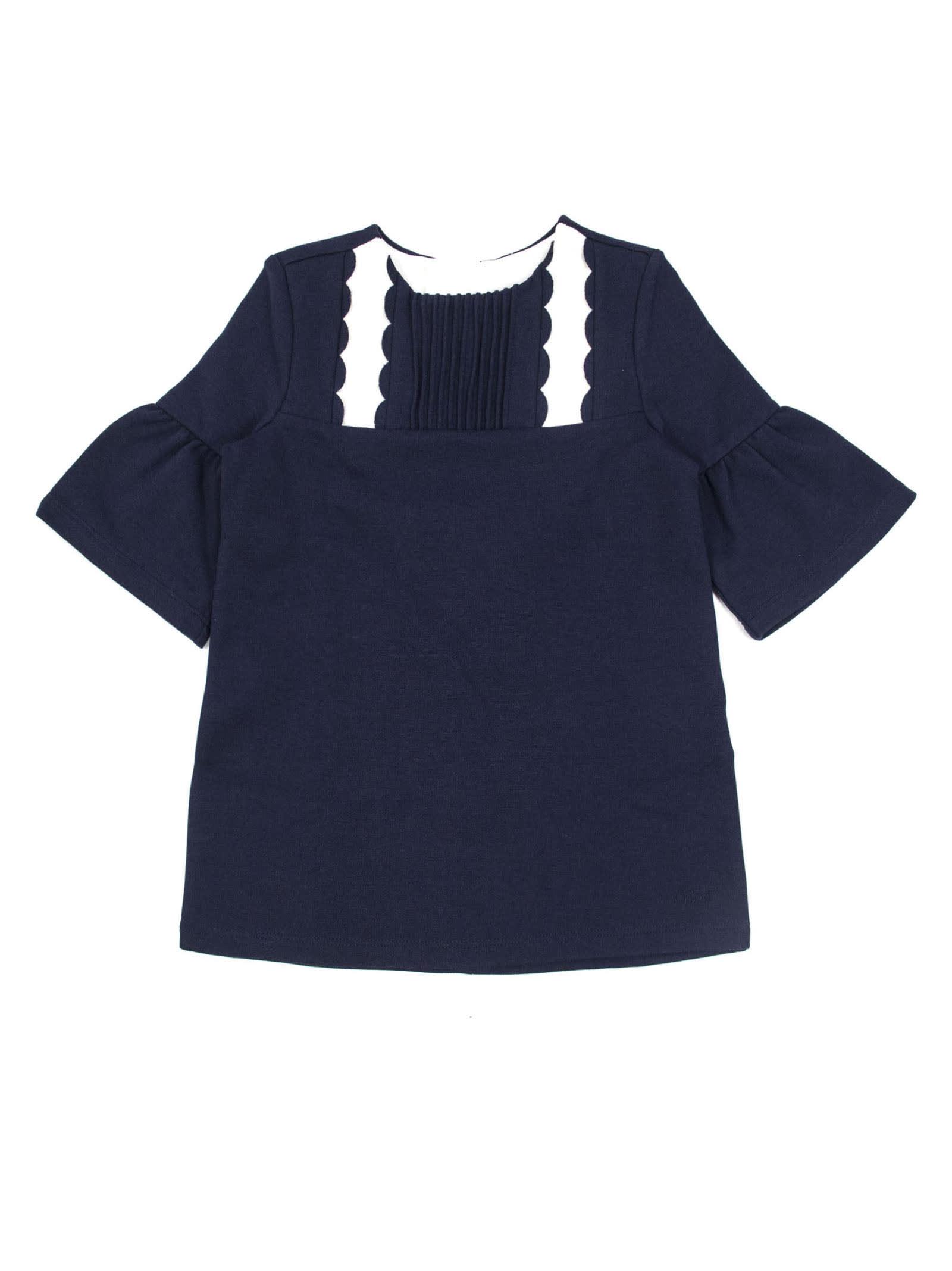 Chloé Blue Cotton Blend Dress
