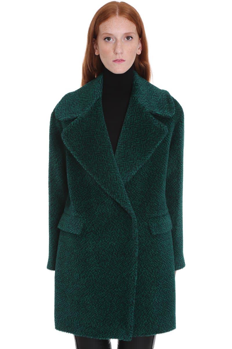 Tagliatore 0205 Astrid Coat In Green Wool