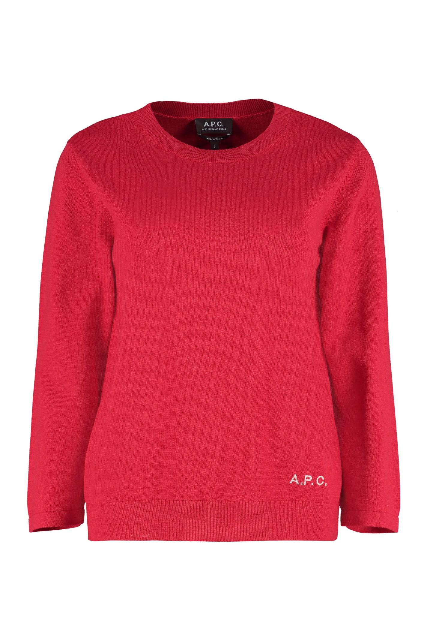 A.P.C. Cotton Blend Crew-neck Sweater