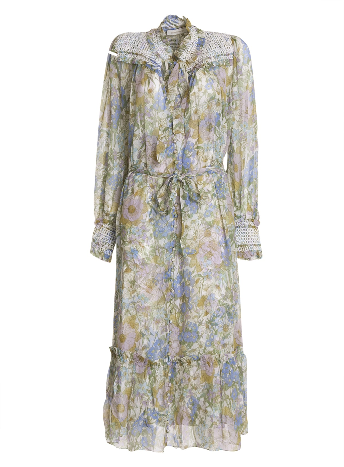 Buy Zimmermann Floral Patterned Midi Dress online, shop Zimmermann with free shipping