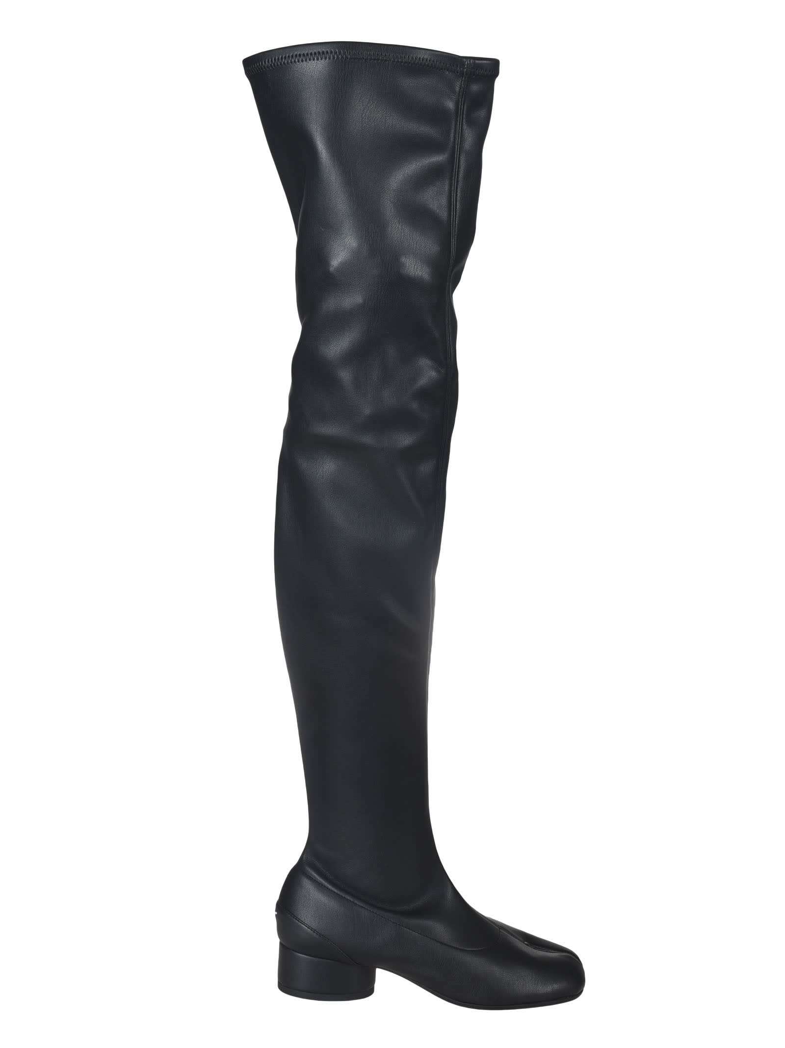 Buy Maison Margiela Cleft Toe Over-the-knee Boots online, shop Maison Margiela shoes with free shipping