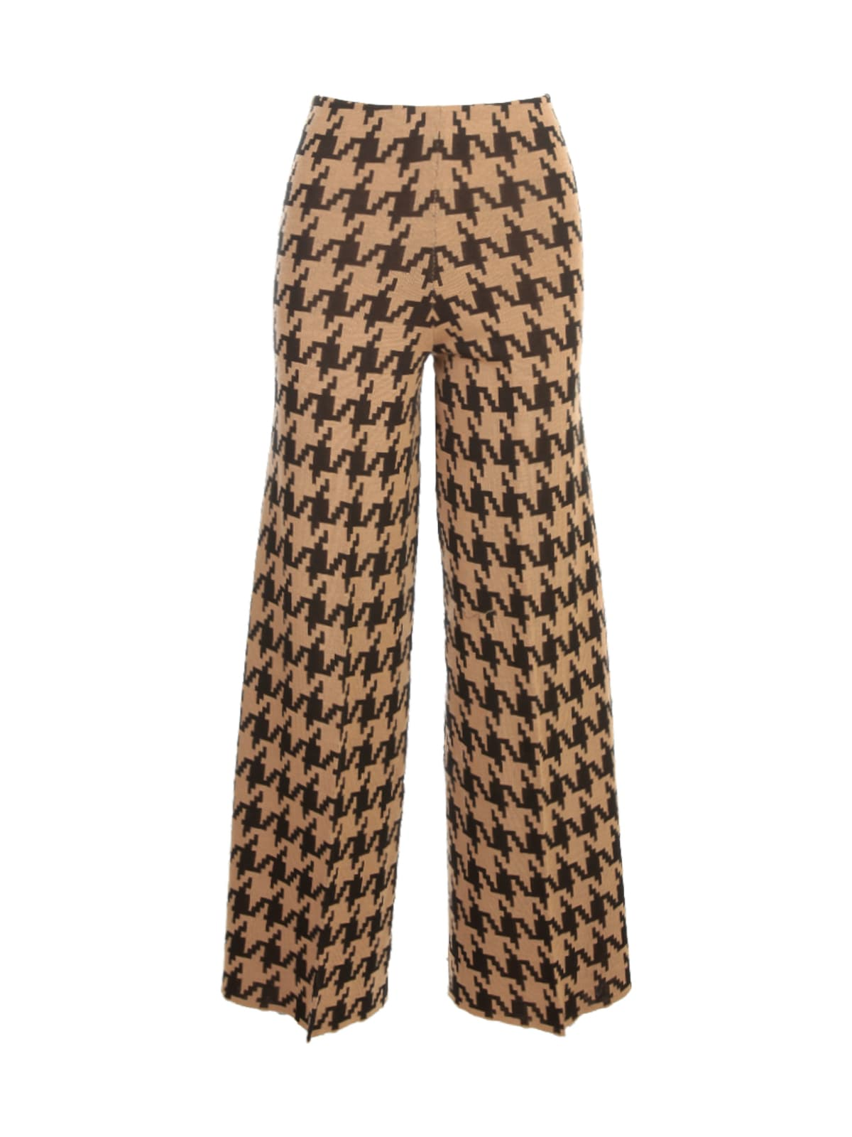 Pied De Poule High Waisted Trousers