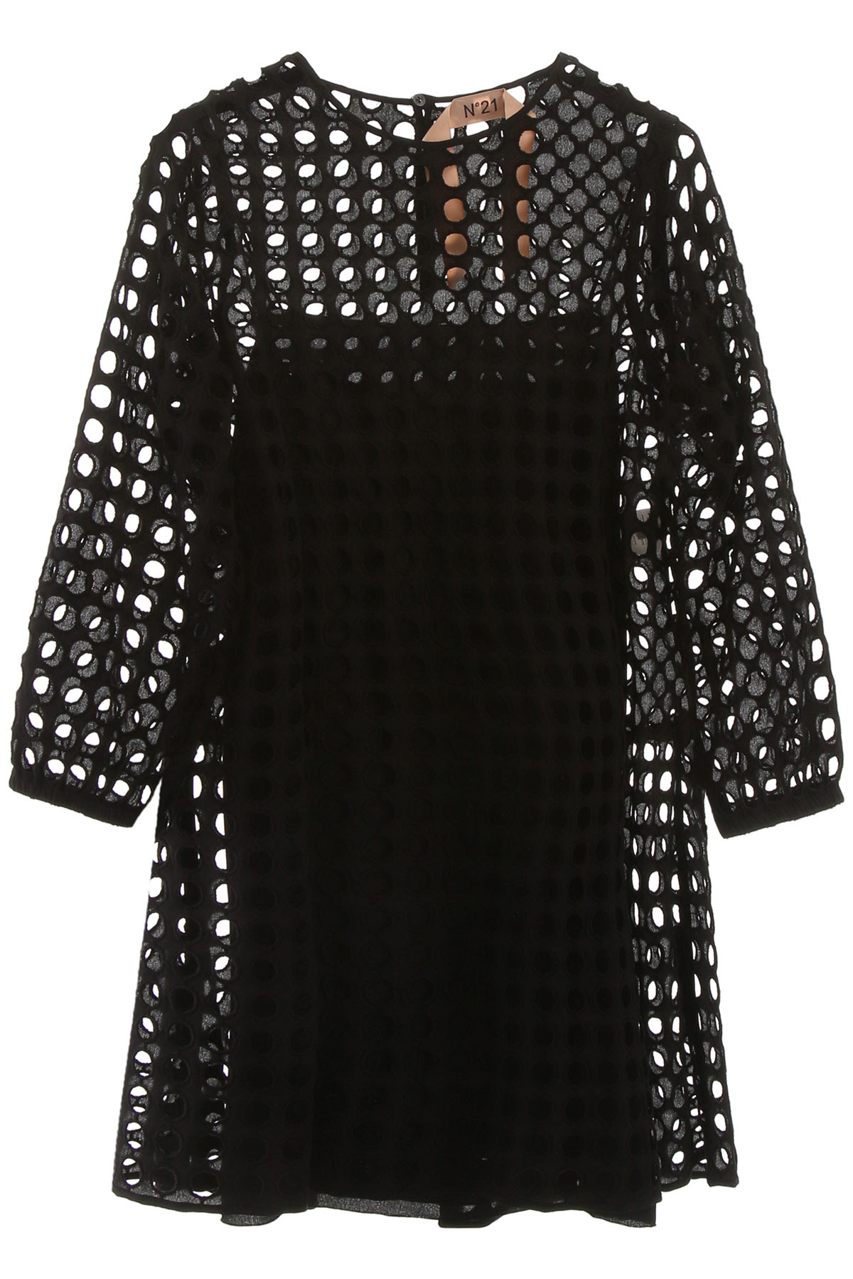 Buy N.21 Perforated Mini Dress online, shop N.21 with free shipping