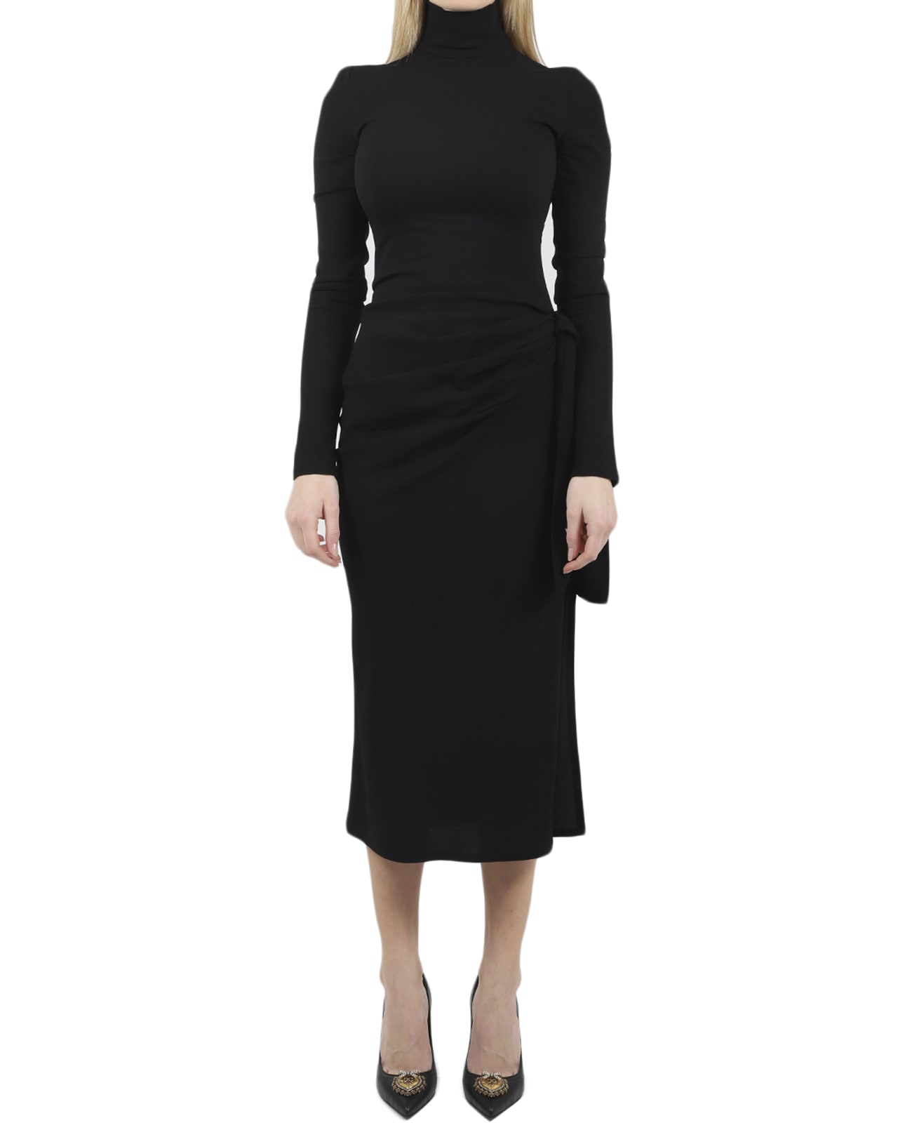 Buy Dolce & Gabbana Black Dress online, shop Dolce & Gabbana with free shipping