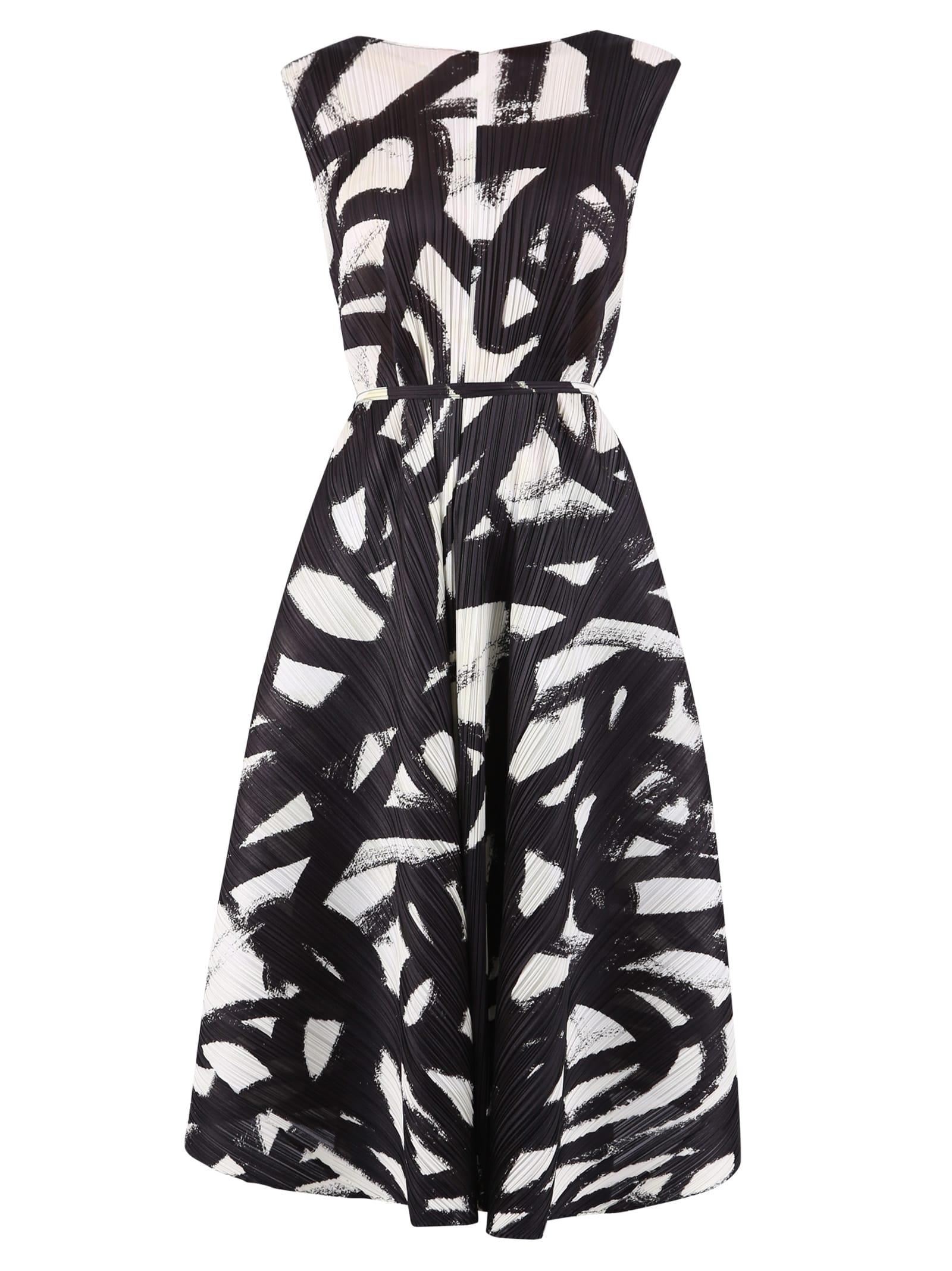 Buy Issey Miyake Printed Dress online, shop Issey Miyake with free shipping