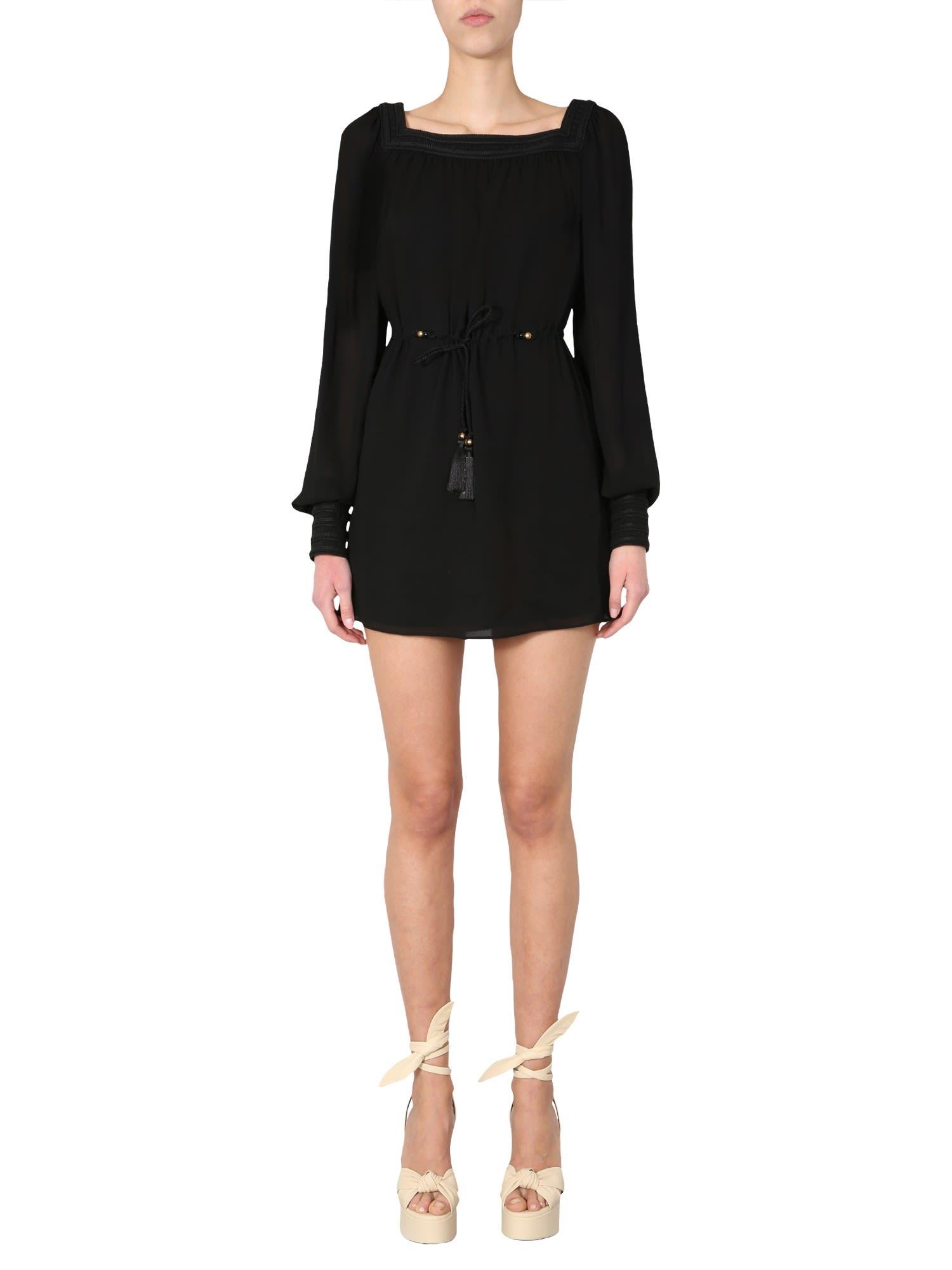 Saint Laurent Long Sleeved Dress
