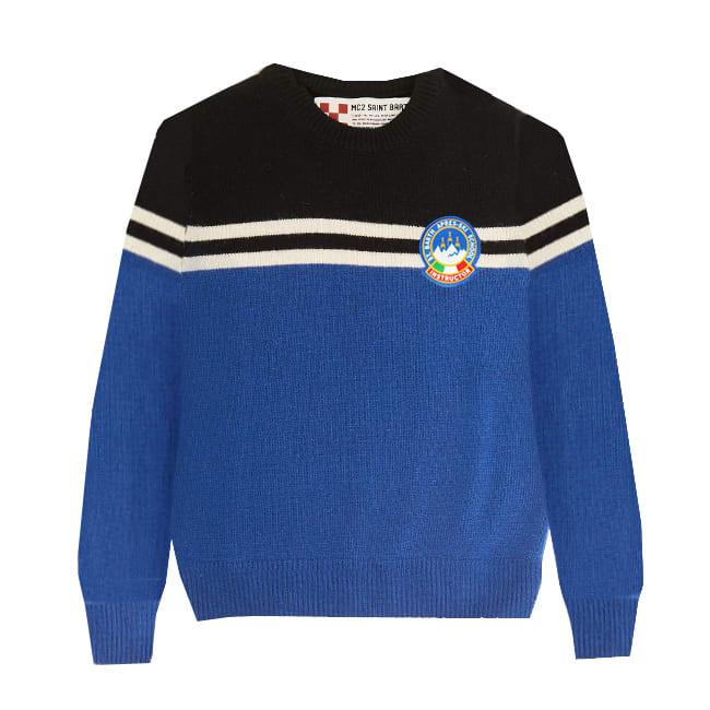 MC2 Saint Barth Boy Bluette Sweater With Patch