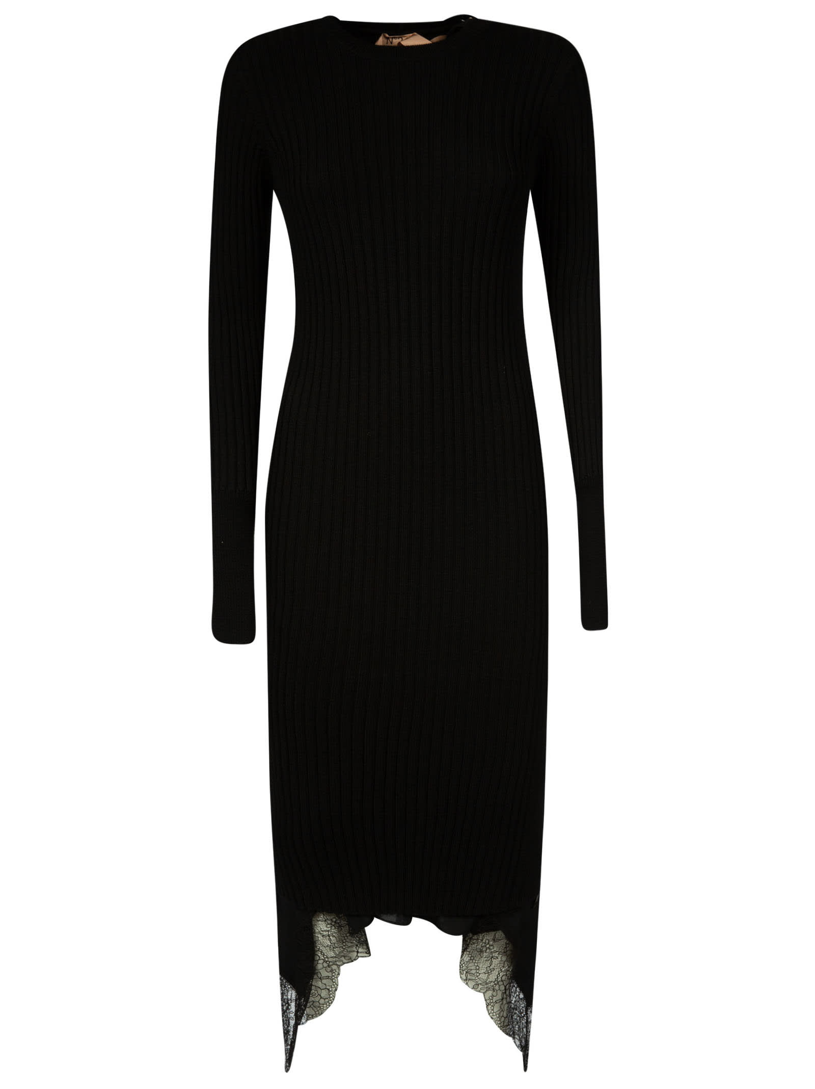 N.21 Laced Detail Long Dress