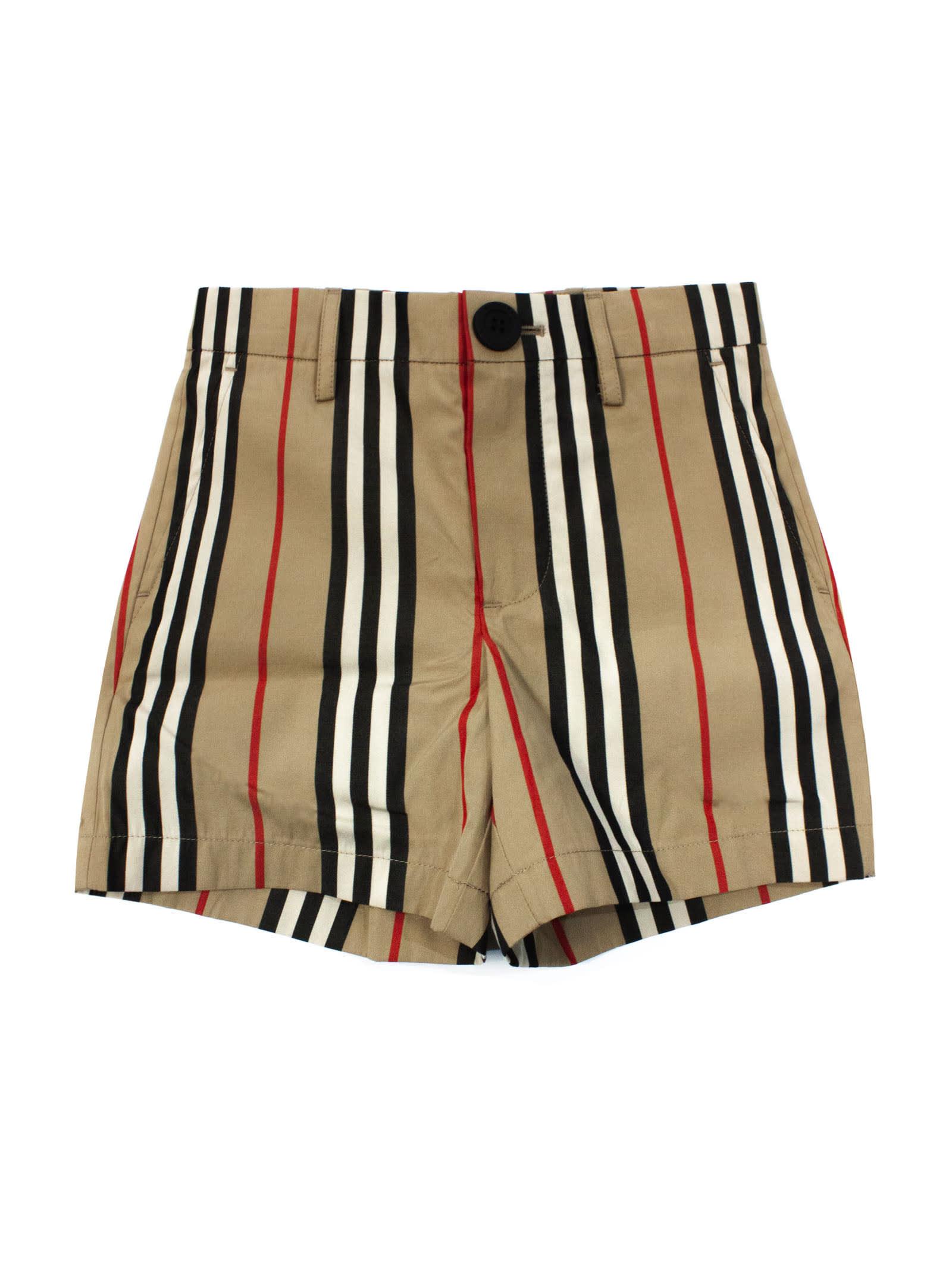 Burberry Kids' Lightweight Cotton-poplin Shorts In Check
