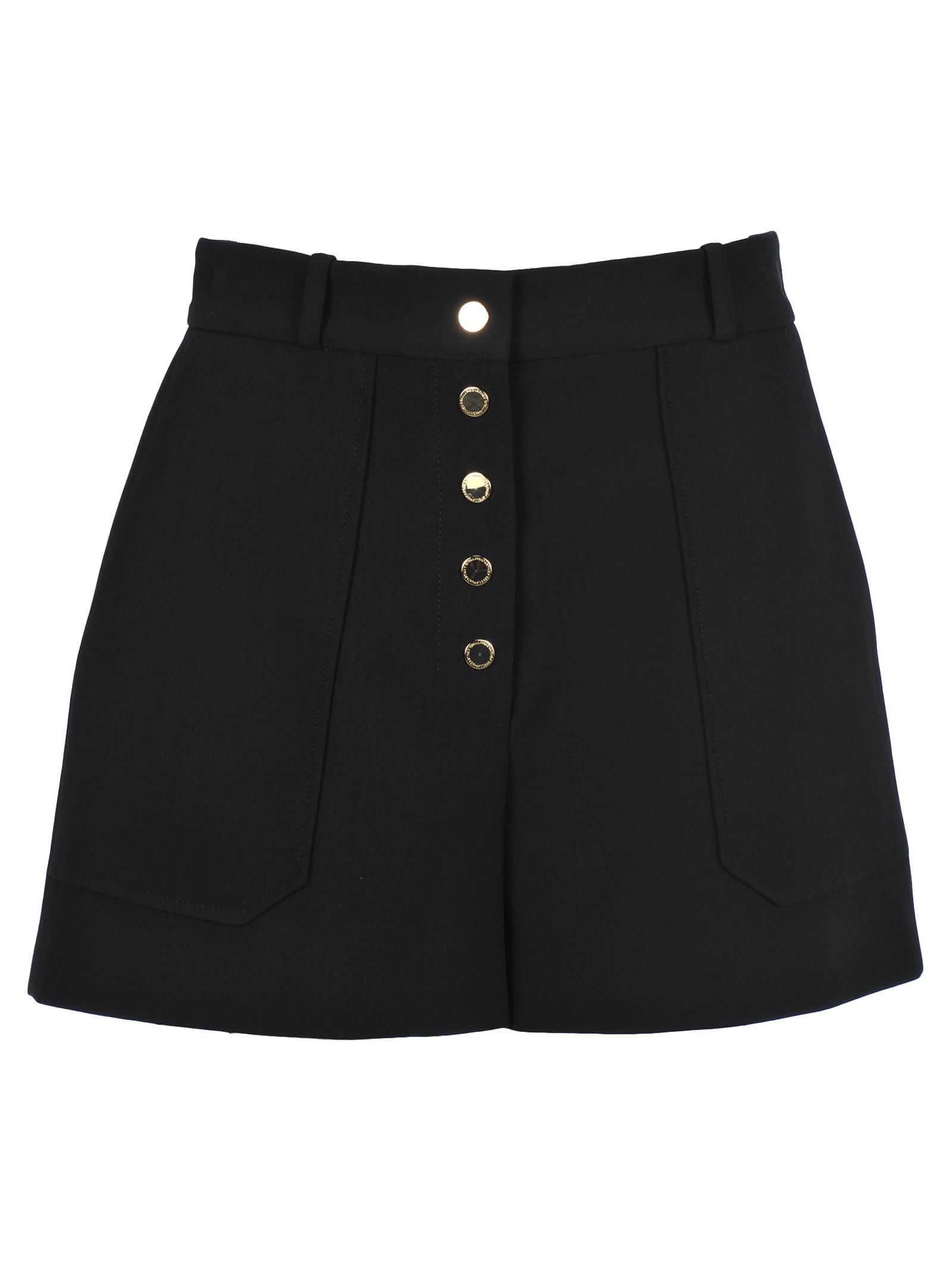 Stella McCartney Stella Mccartney Gold Button Shorts