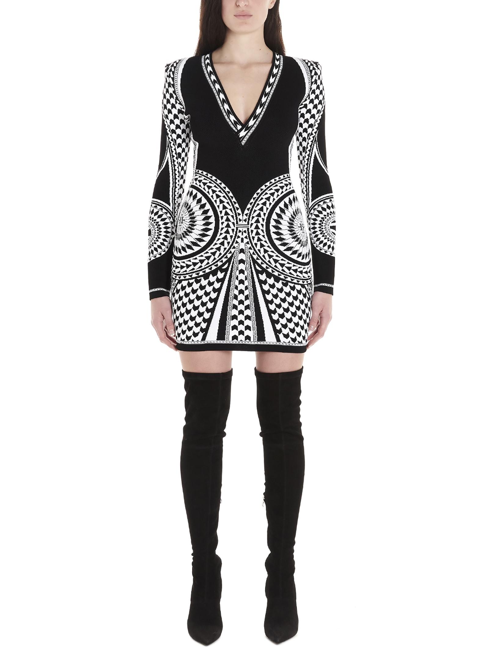 Buy Balmain tribes Dress online, shop Balmain with free shipping