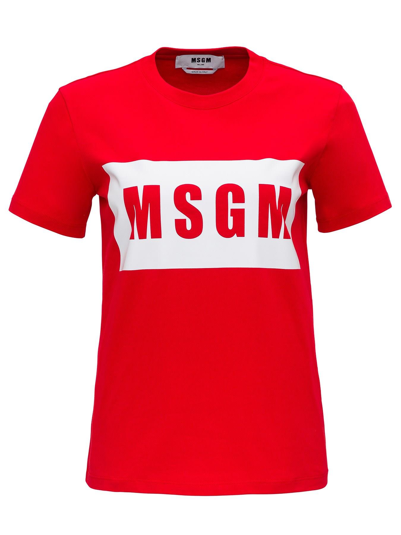MSGM T-shirt With Logo Print