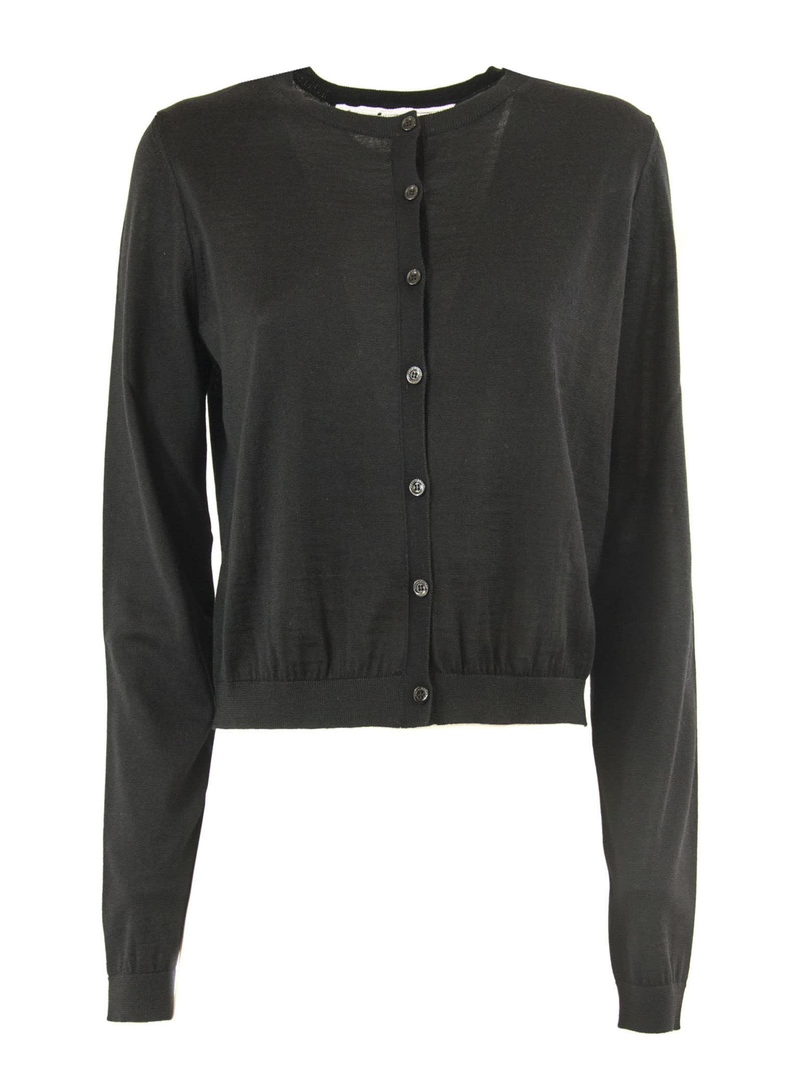 foto ufficiali 21a11 98916 RED Valentino Black Wool, Silk And Cashmere Blend Cardigan