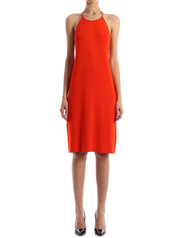 Buy Bottega Veneta Orange Dress online, shop Bottega Veneta with free shipping