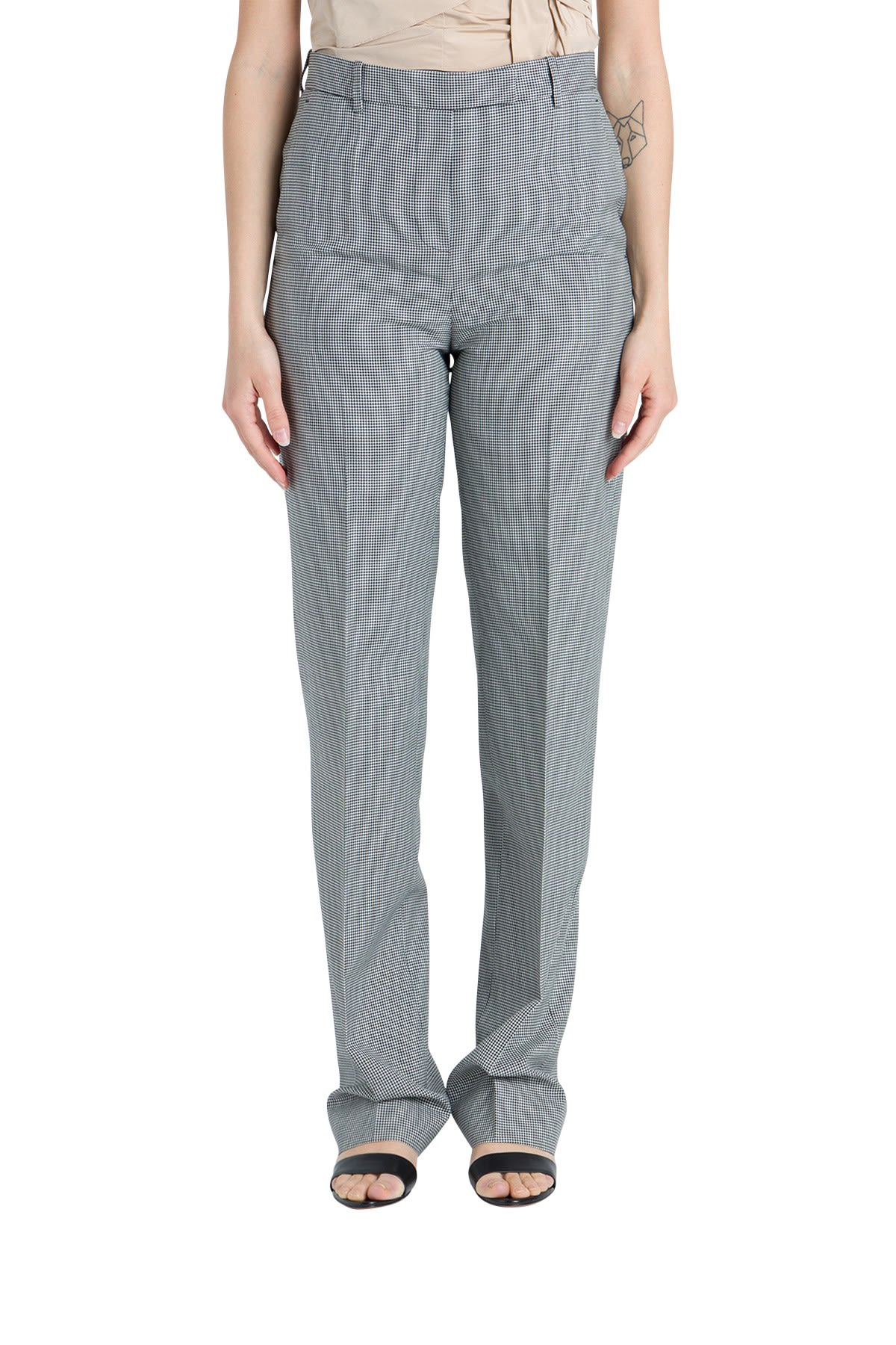 Givenchy Split Houndstooth Trousers