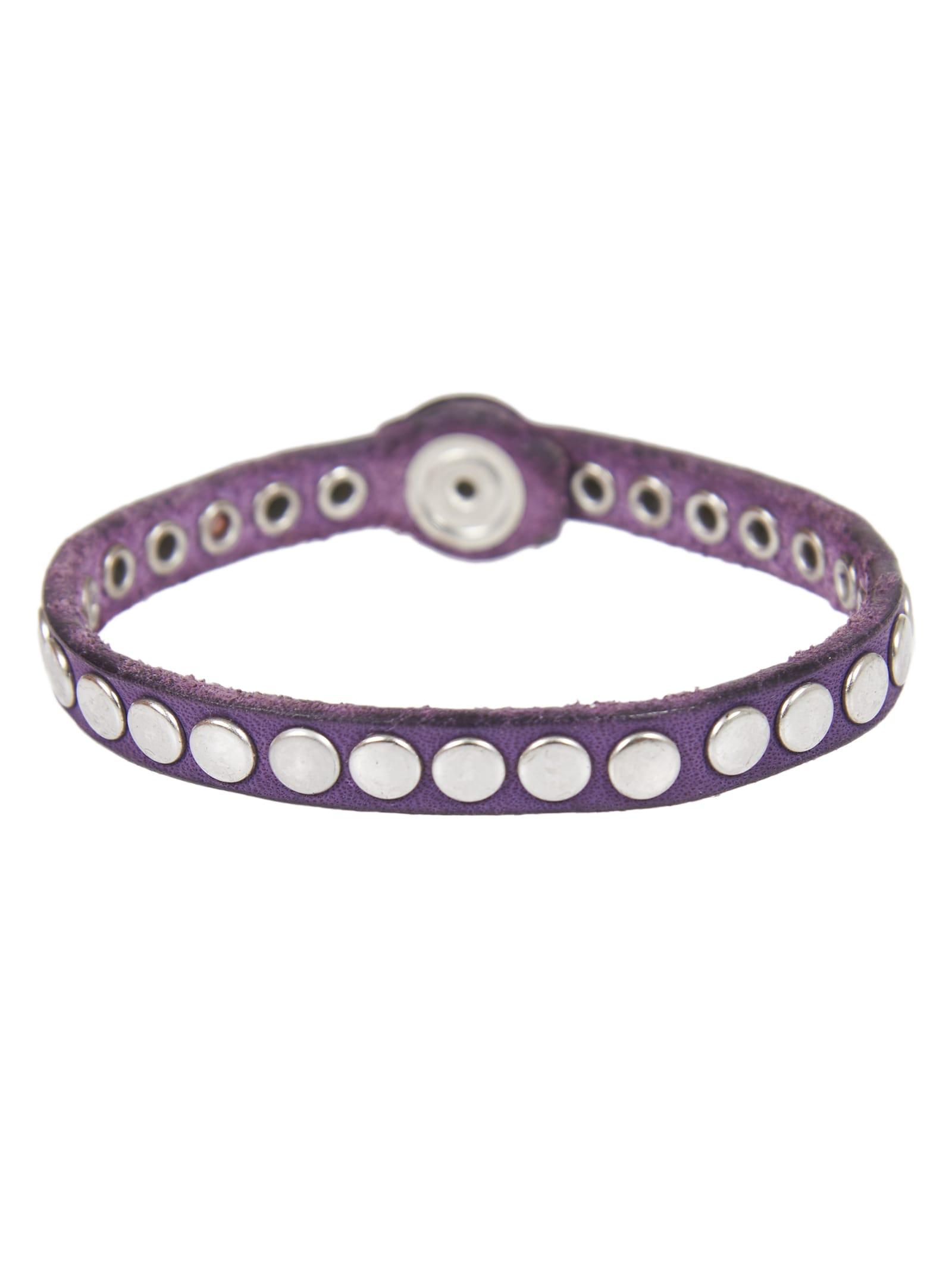 Purple Leather Bracelet
