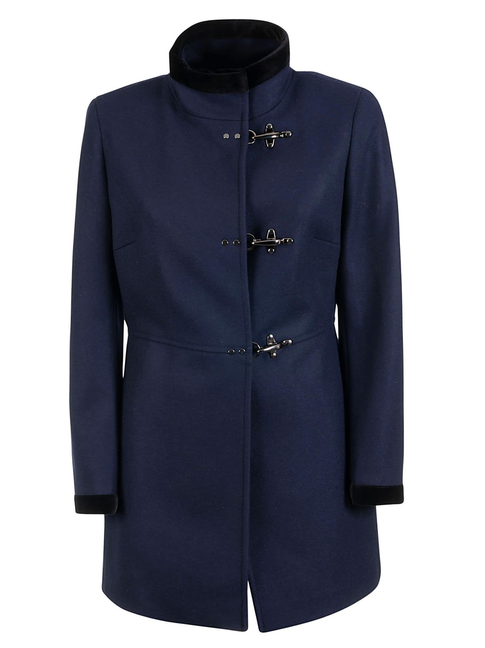 Fay Velvet Trim Coat