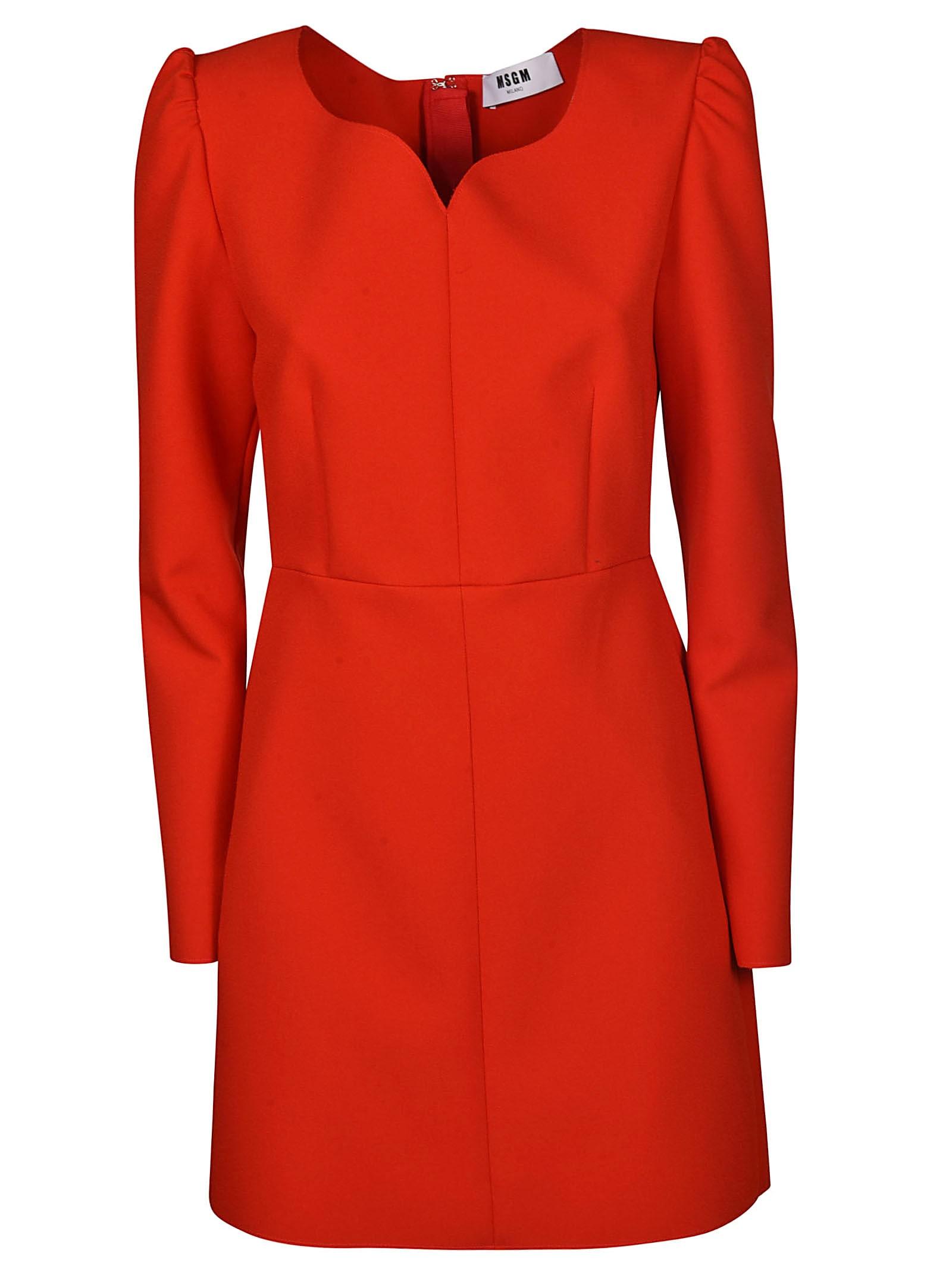 MSGM Rear Zipped Dress