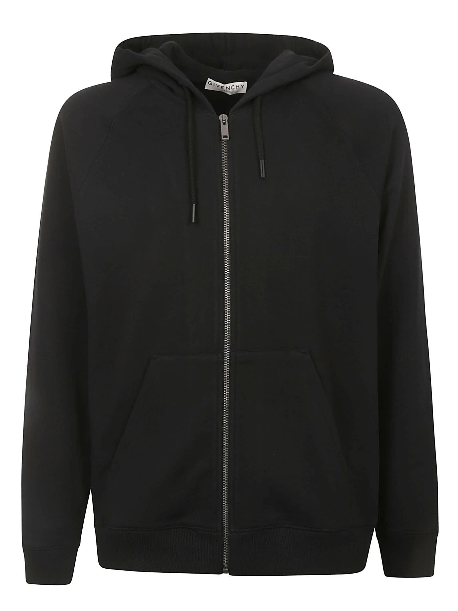 Givenchy Rear Logo Print Zipped Hoodie