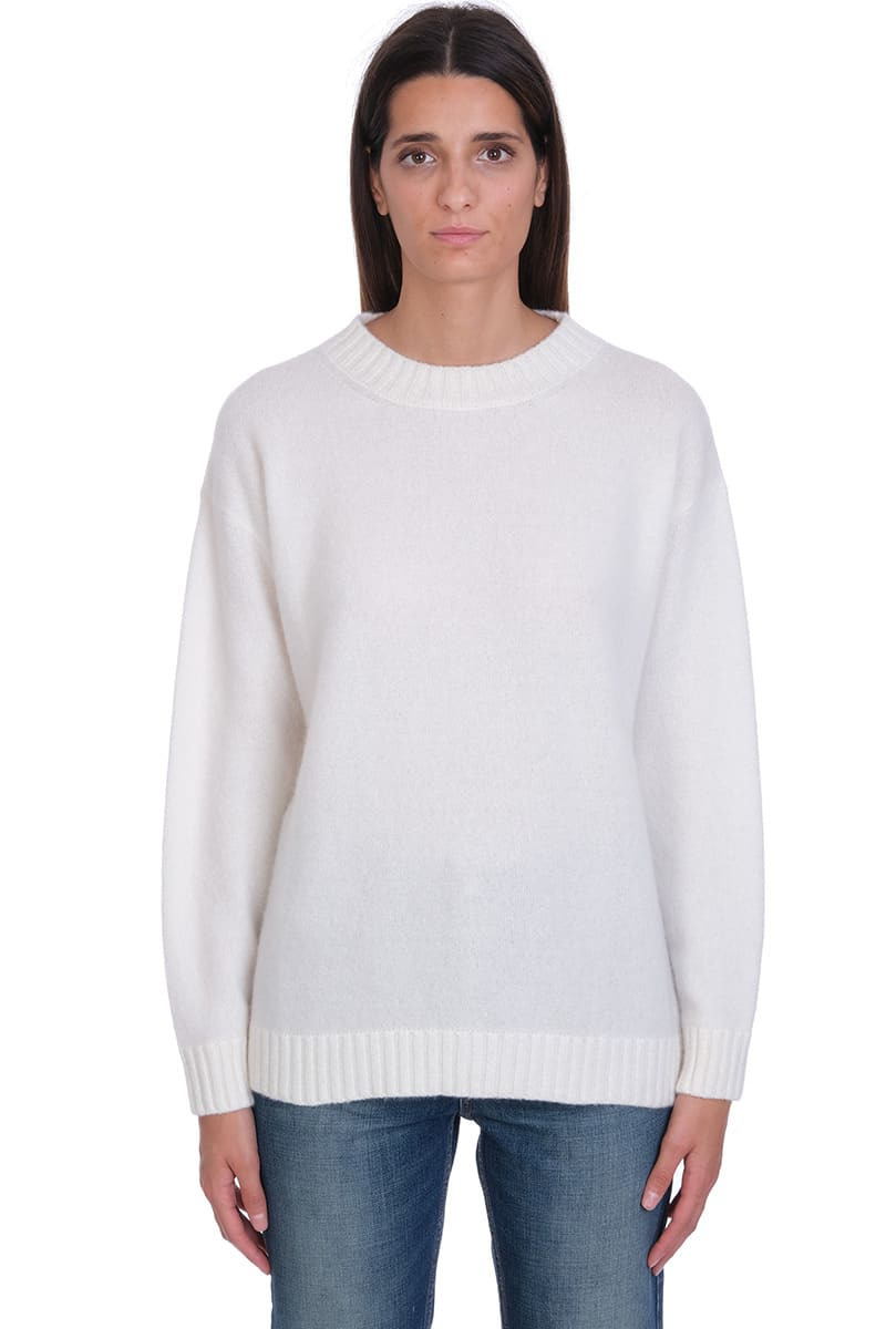 Laneus Knitwear In White Wool