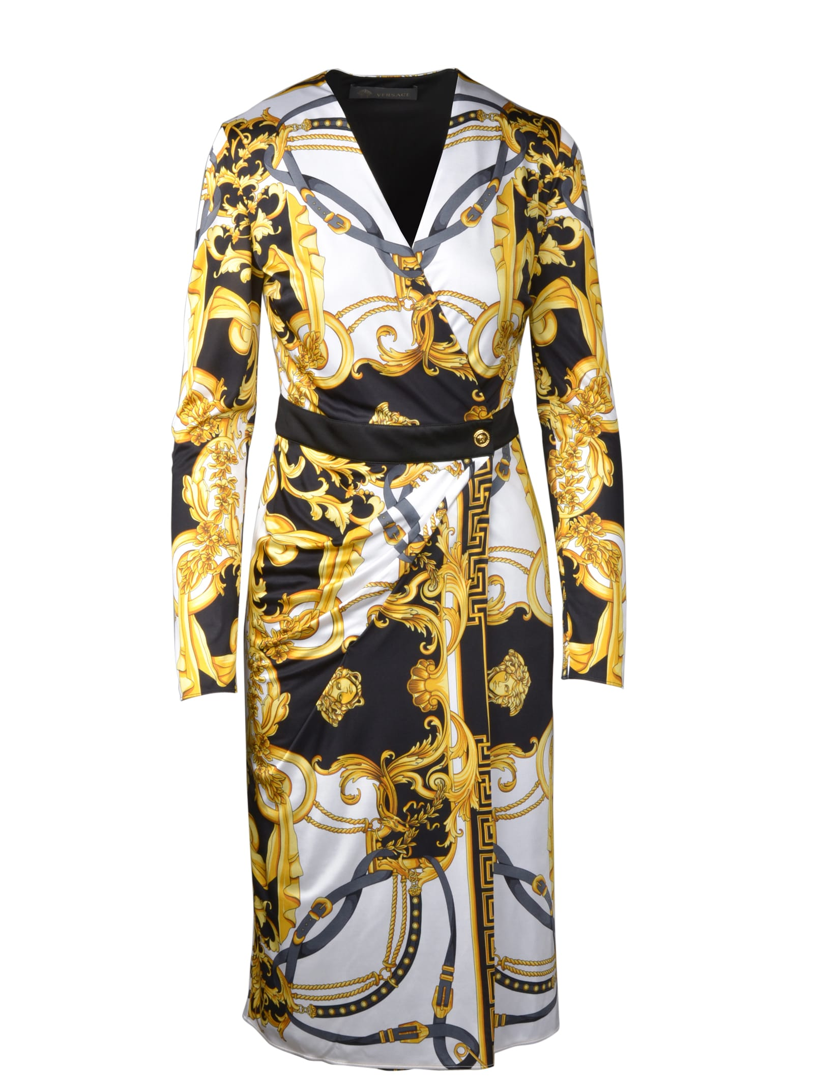 Buy Versace Barocco Rodeo Dress online, shop Versace with free shipping