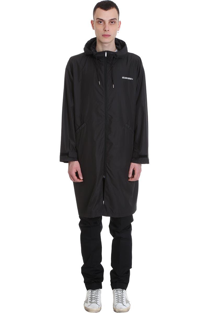Golden Goose Parka Landon Casual Jacket In Black Polyamide