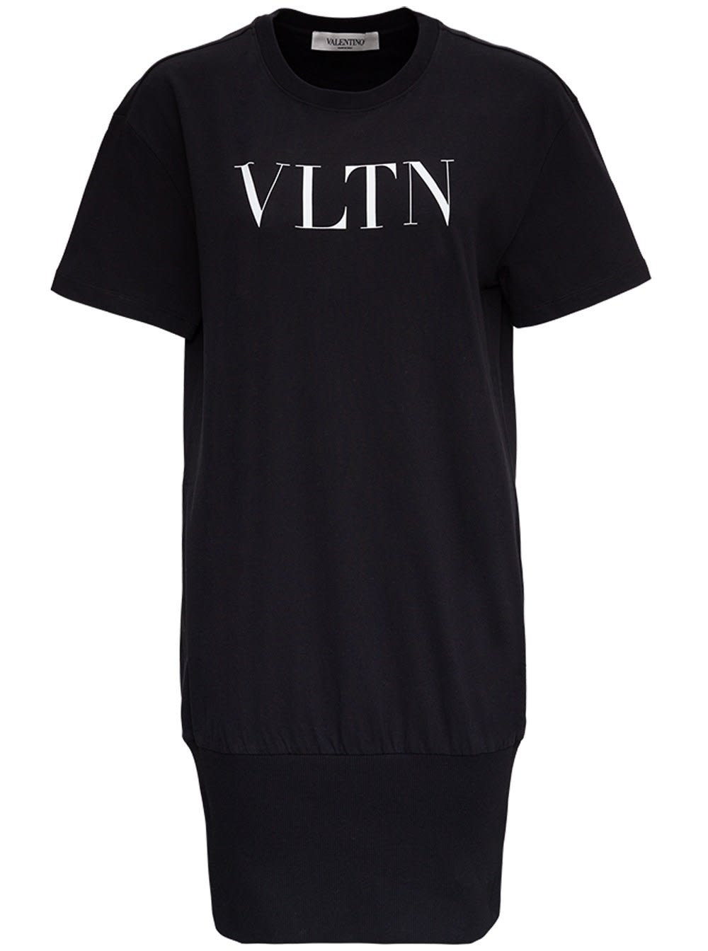 Valentino Jersey Dress With Front Logo