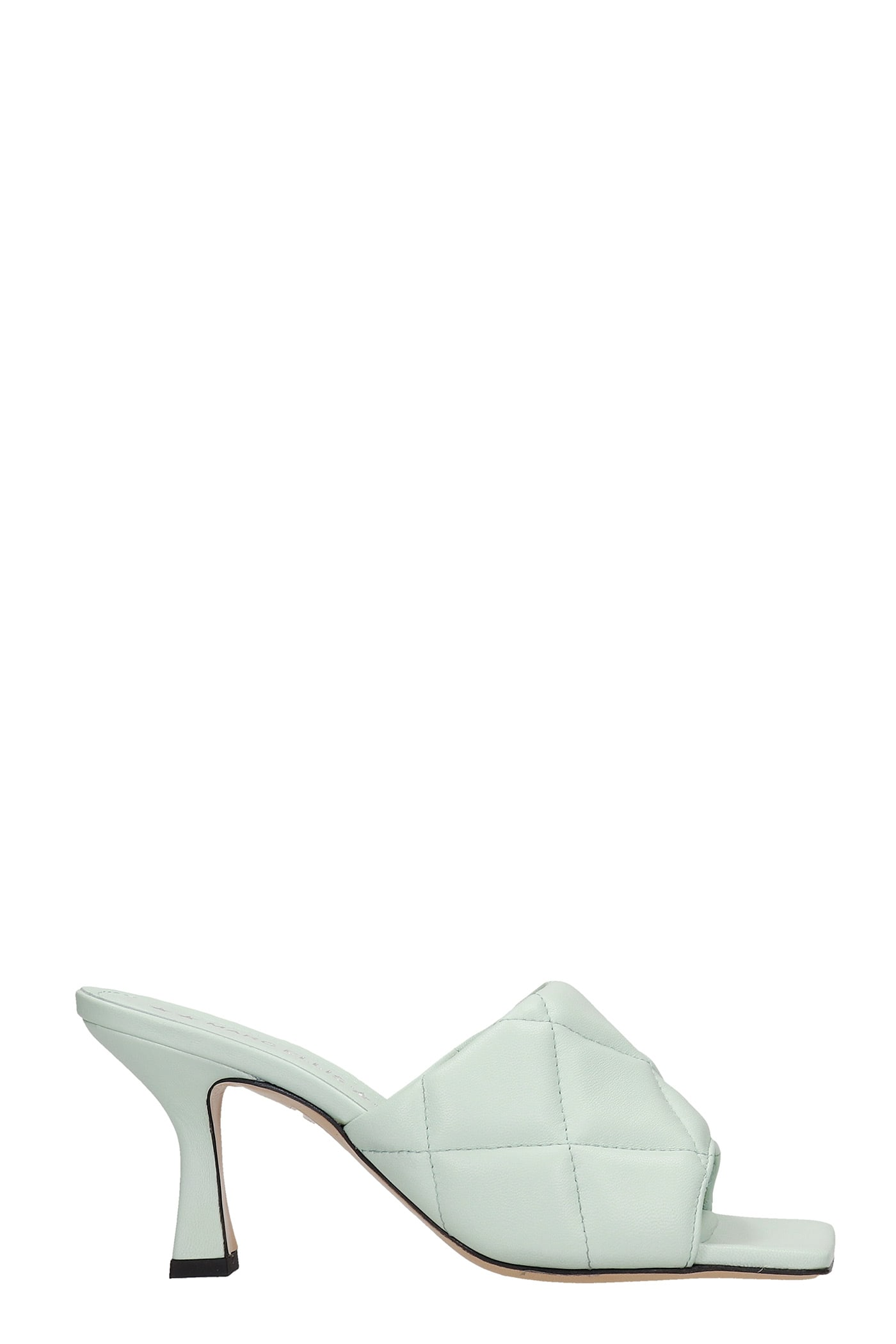 Alina Sandals In Green Leather
