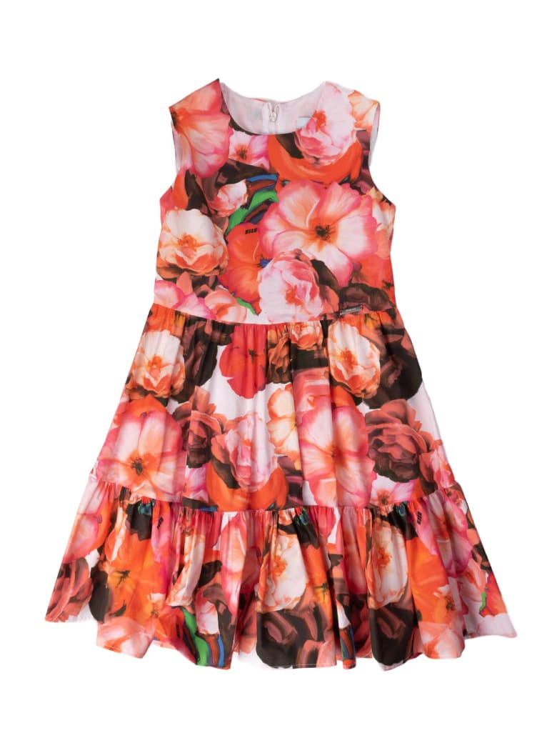 Buy MSGM Flower Fantasy Dress online, shop MSGM with free shipping