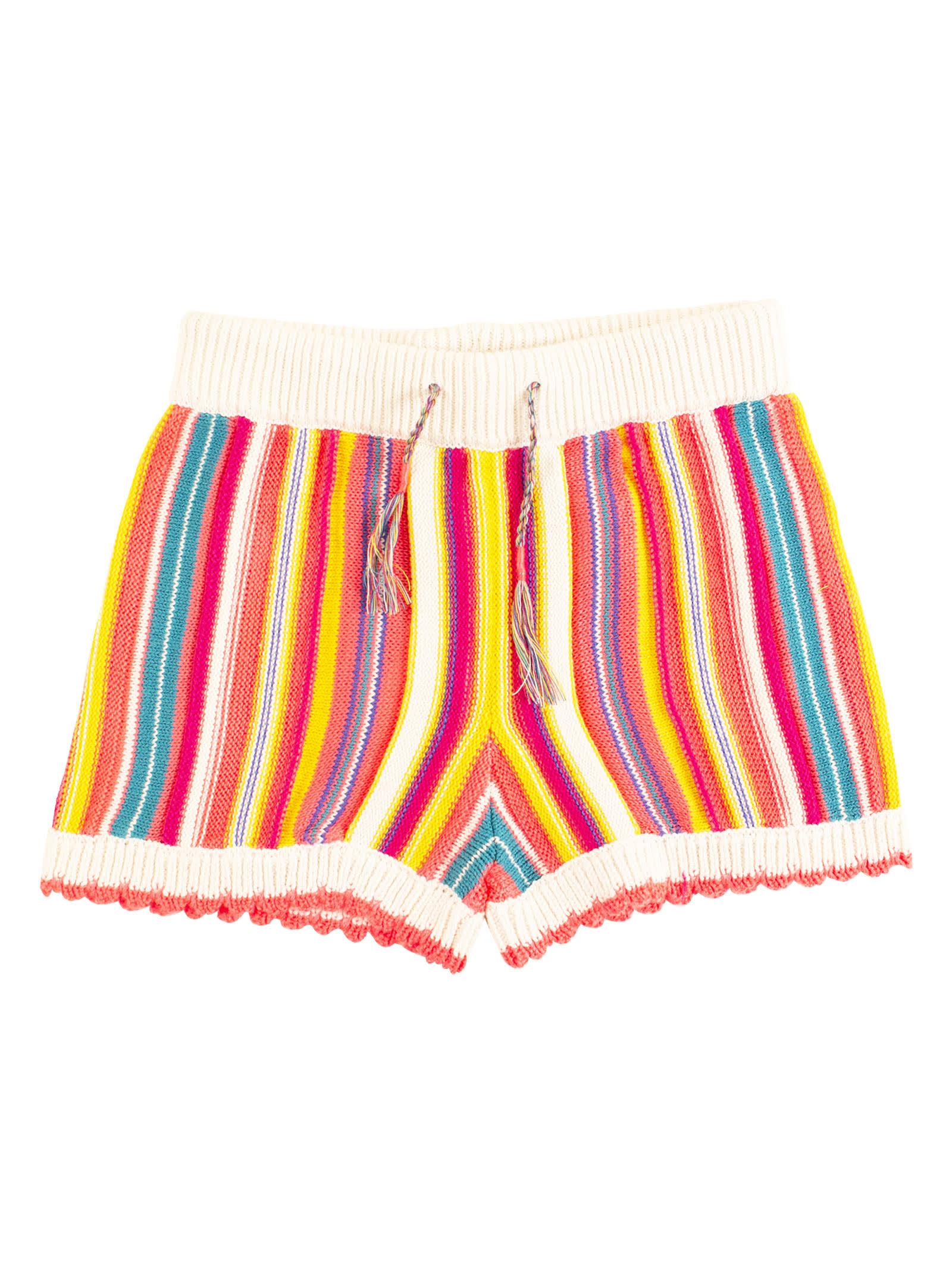 Stripe Mini Shorts
