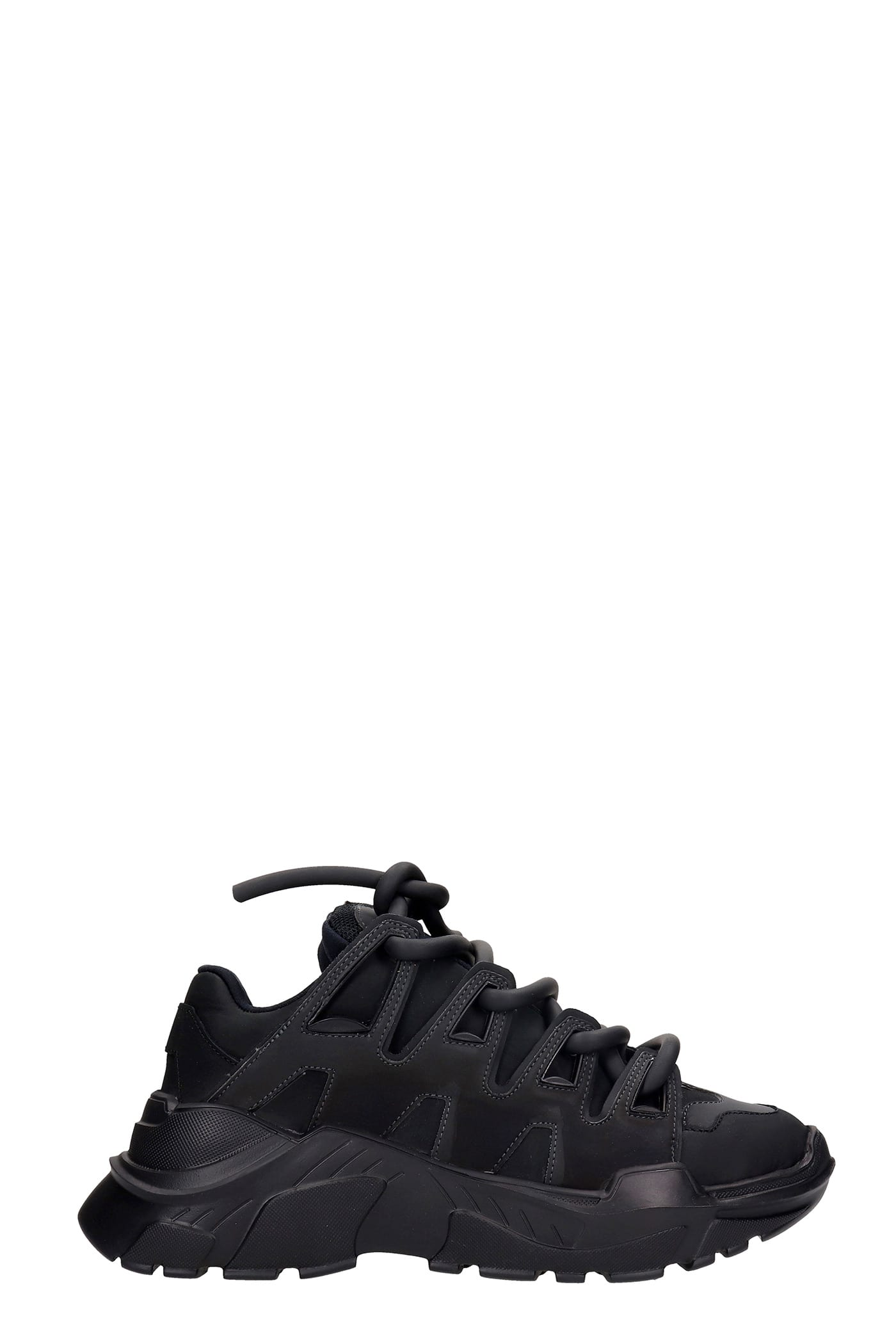 Ozzy Sneakers In Black Rubber/plasic
