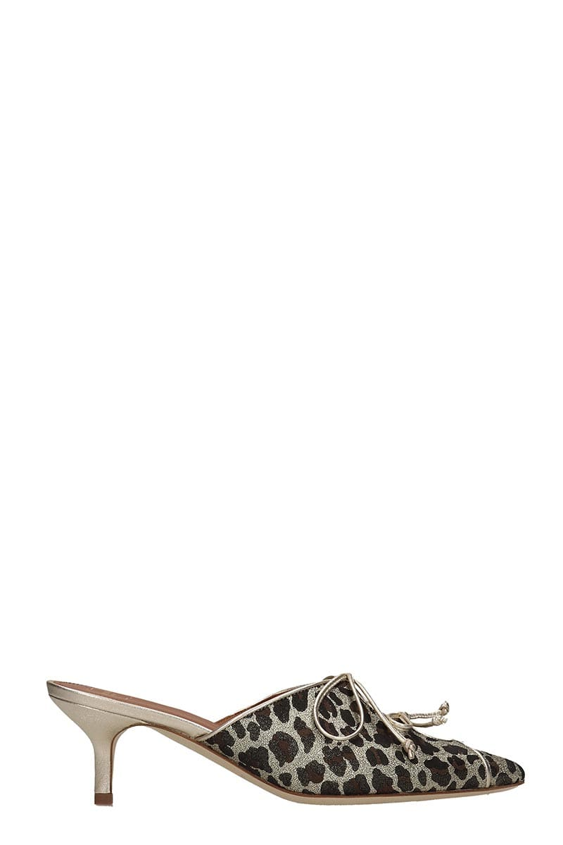 Malone Souliers Vicotoria Flats In Gold Leather