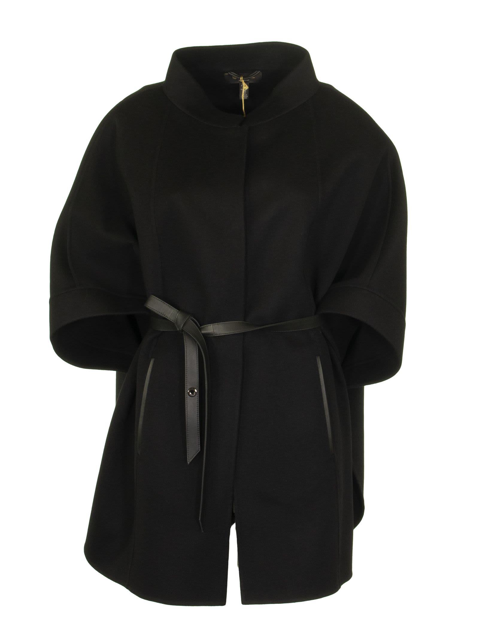 Loro Piana Salzburg Cape Black Cashmere Coat