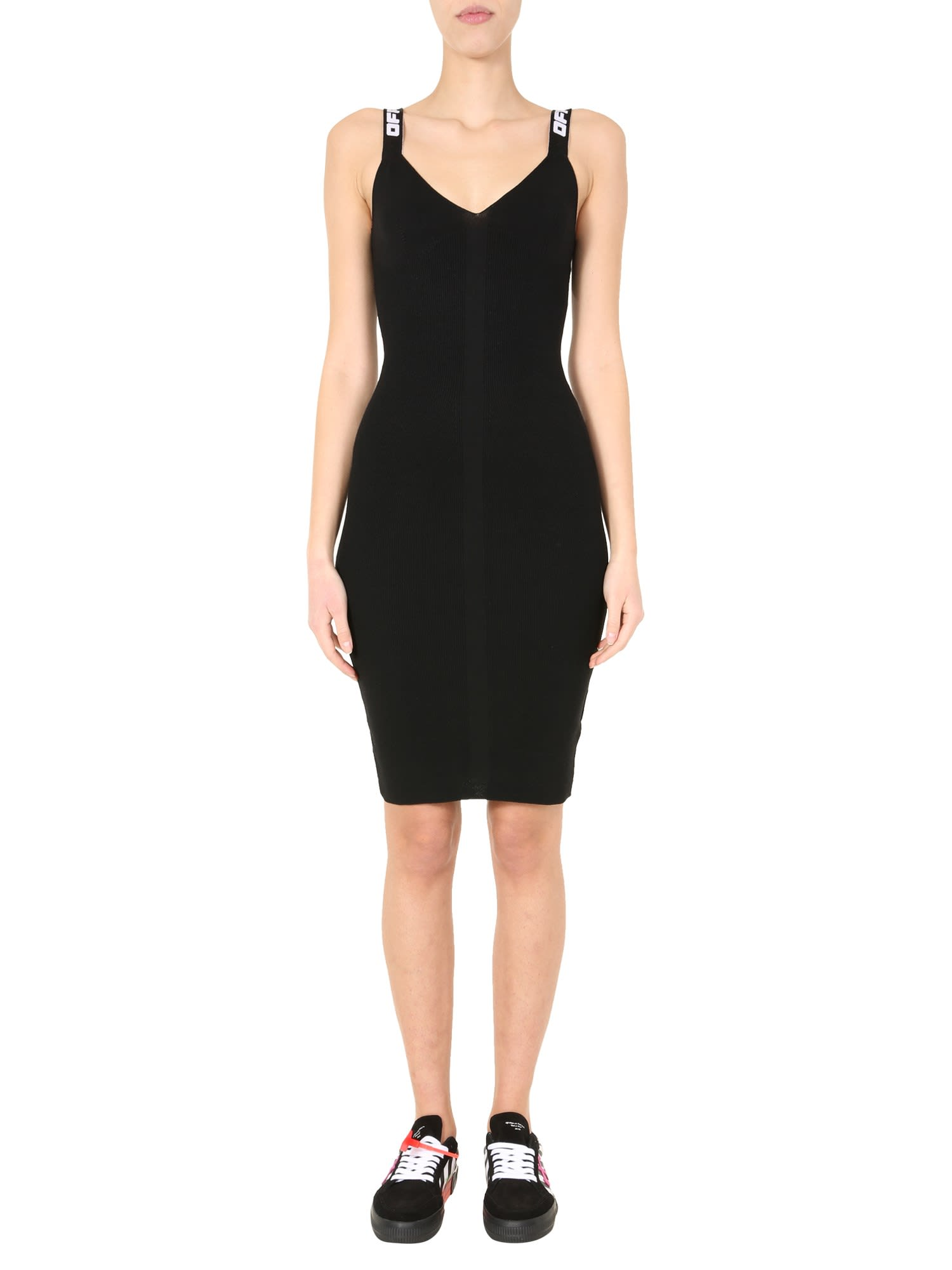 Buy Off-White Longuette Dress online, shop Off-White with free shipping