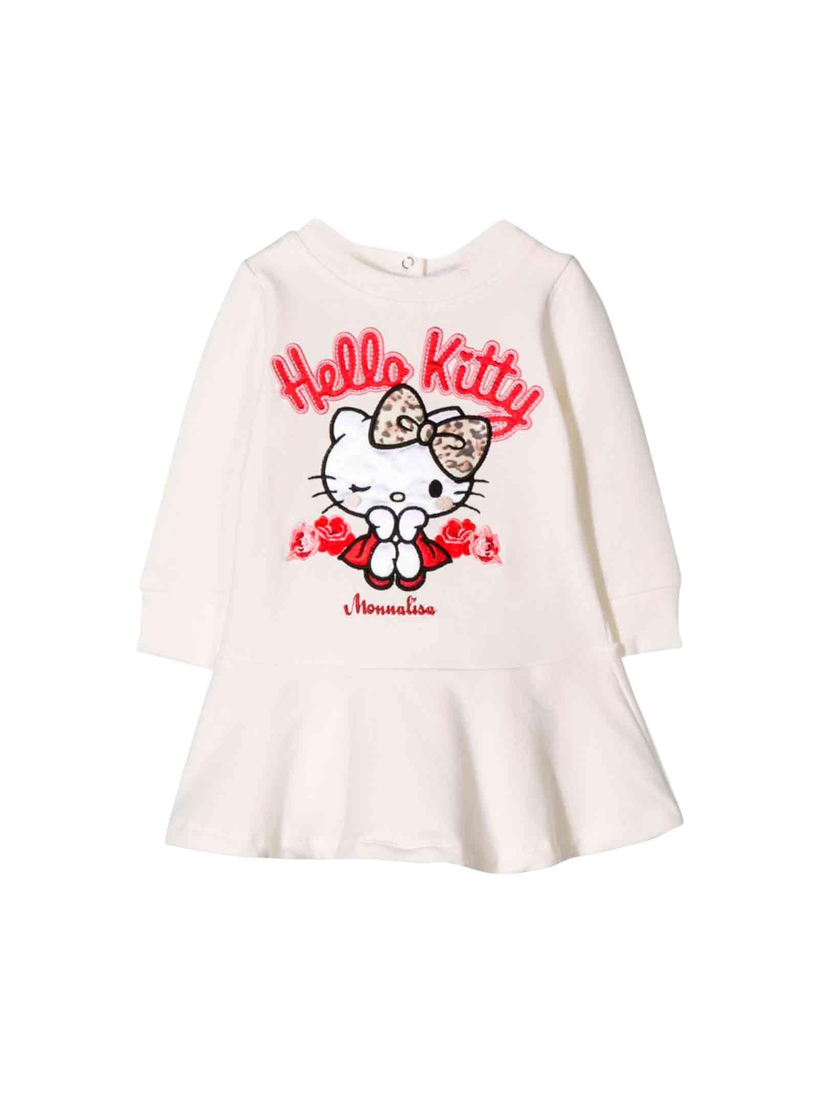 Monnalisa Newborn White Dress