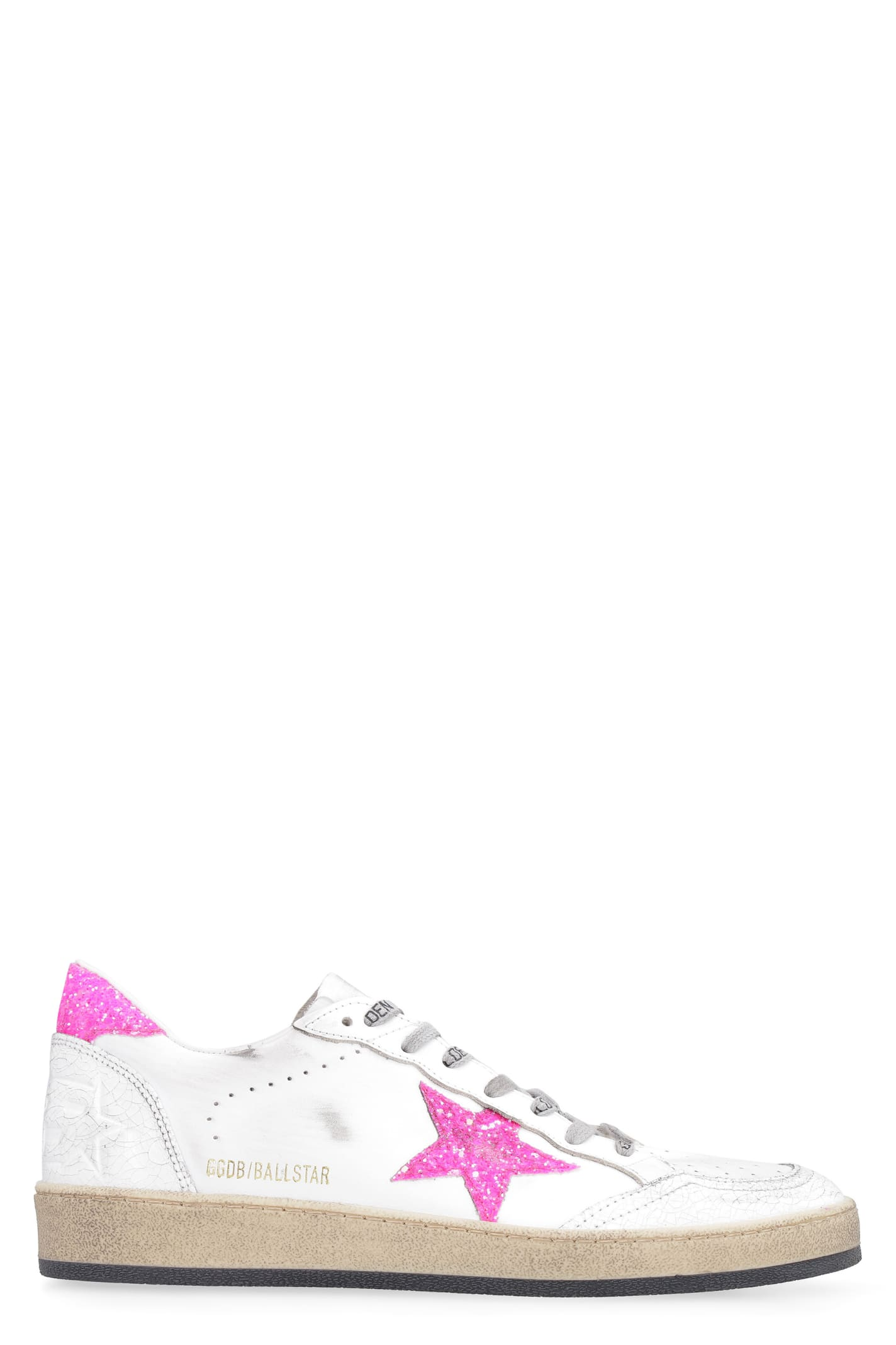 Buy Golden Goose Ball Star Leather Low-top Sneakers online, shop Golden Goose shoes with free shipping