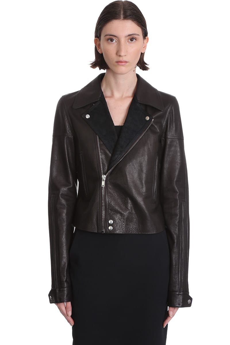Rick Owens Dracubiker Leather Jacket In Black Leather