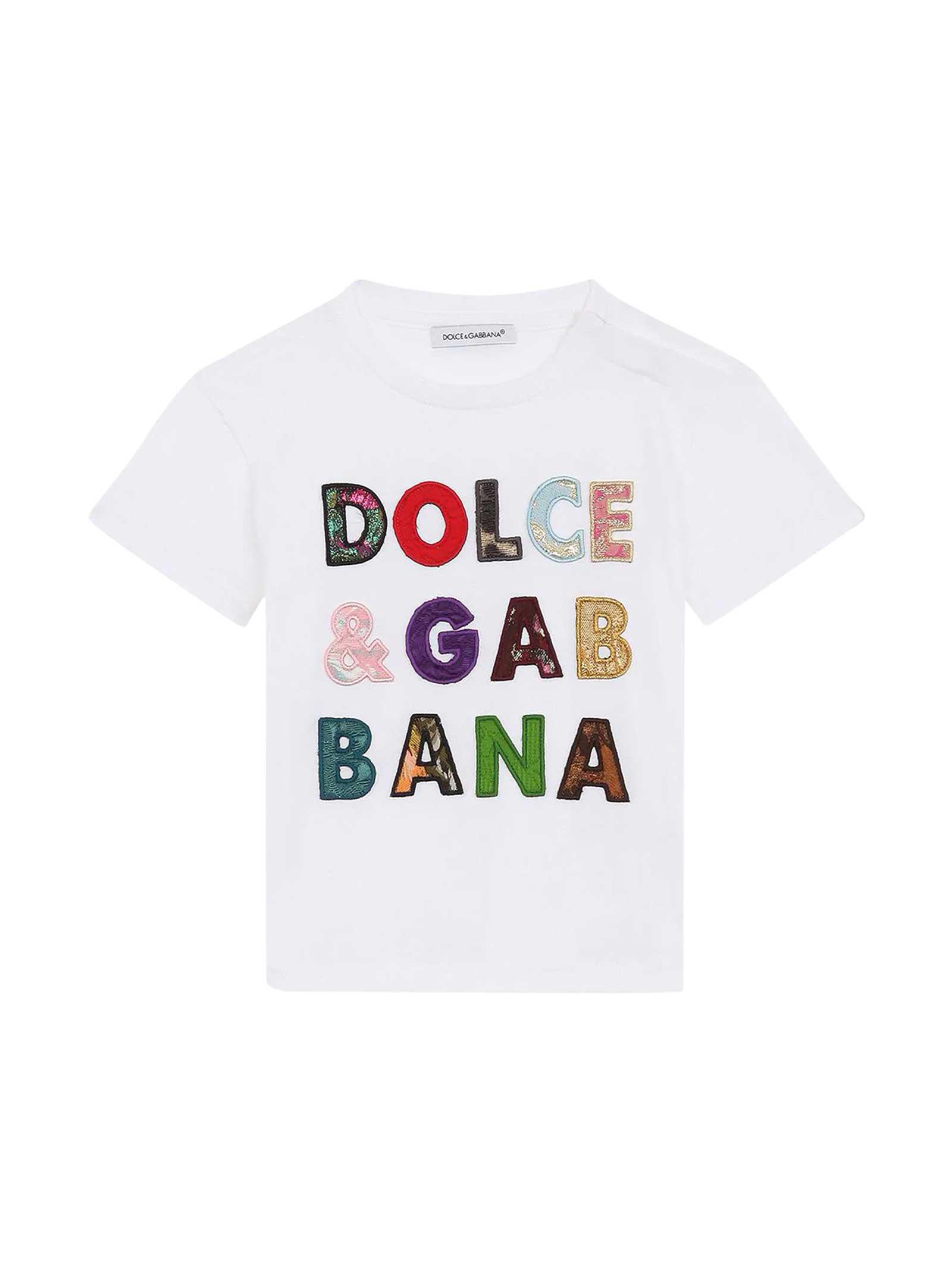 Dolce & Gabbana WHITE BABY T-SHIRT