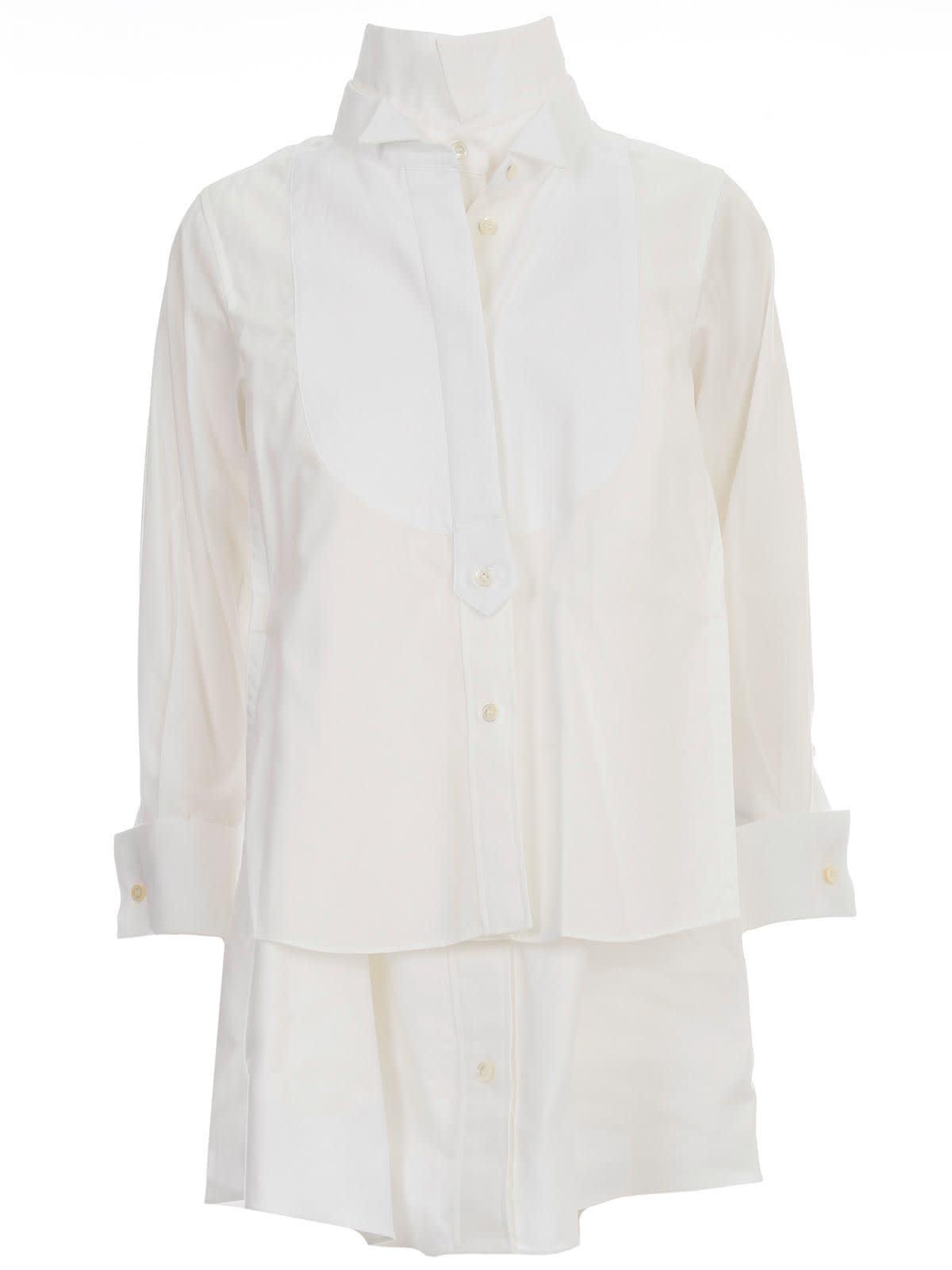 Buy Sacai Cotton Poplin Shirt Dress online, shop Sacai with free shipping